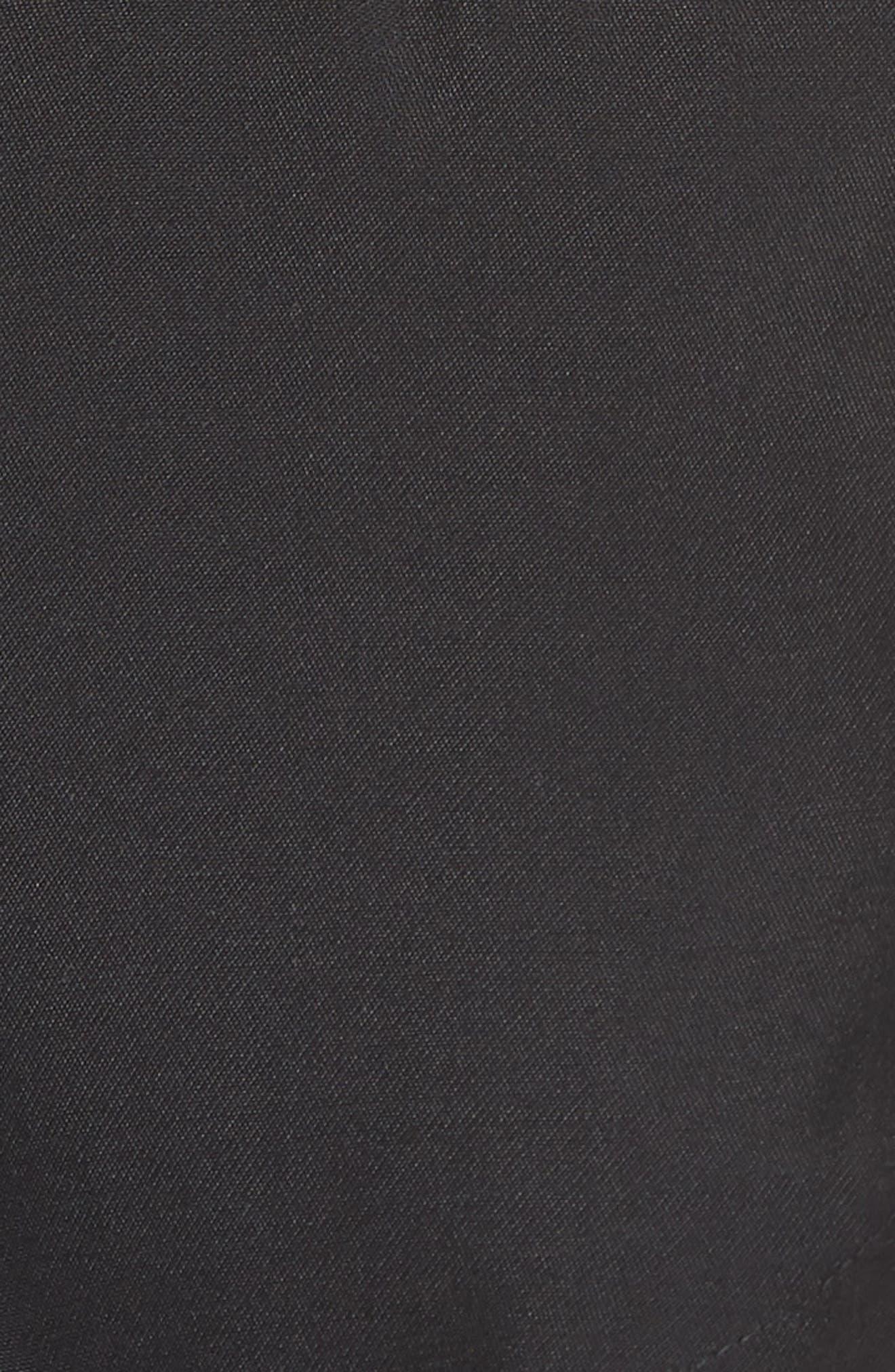 Belted Sleeveless Jacket,                             Alternate thumbnail 6, color,                             Black
