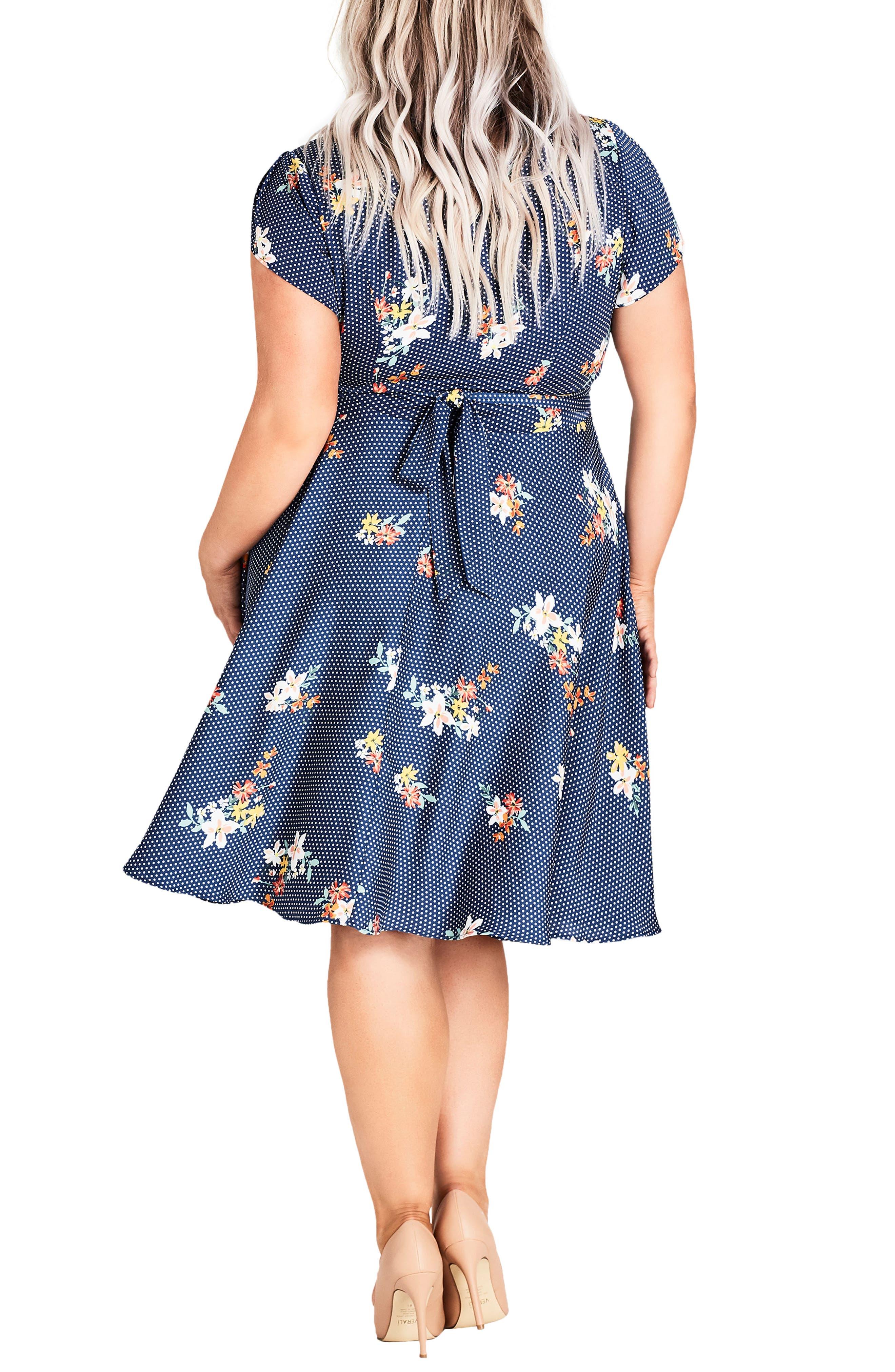 Sweet Spot Floral Fit & Flare Dress,                             Alternate thumbnail 2, color,                             Spot The Floral