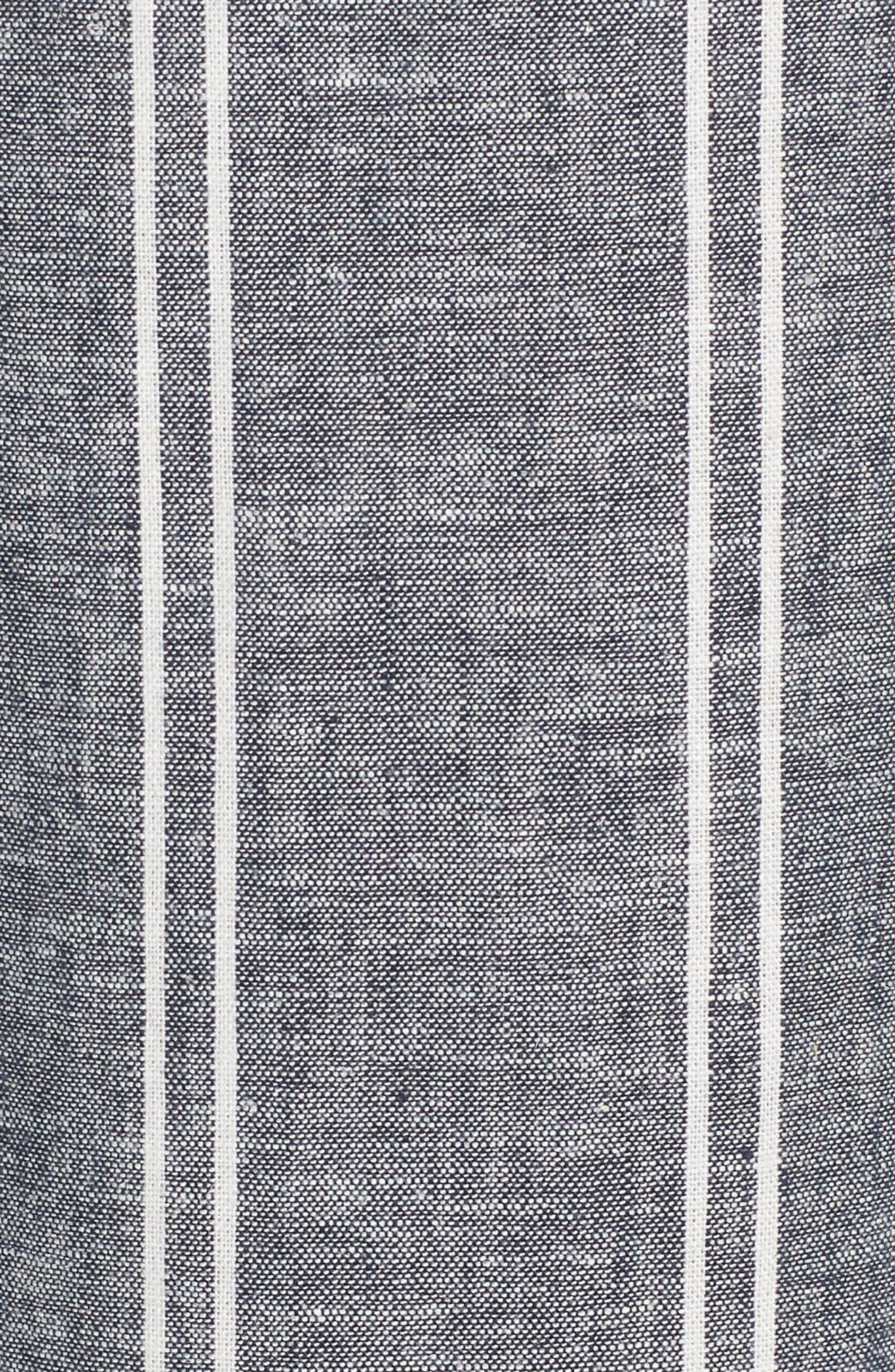Stripe Linen Blend Culottes,                             Alternate thumbnail 6, color,                             Navy Peacoat Chambray Stripe