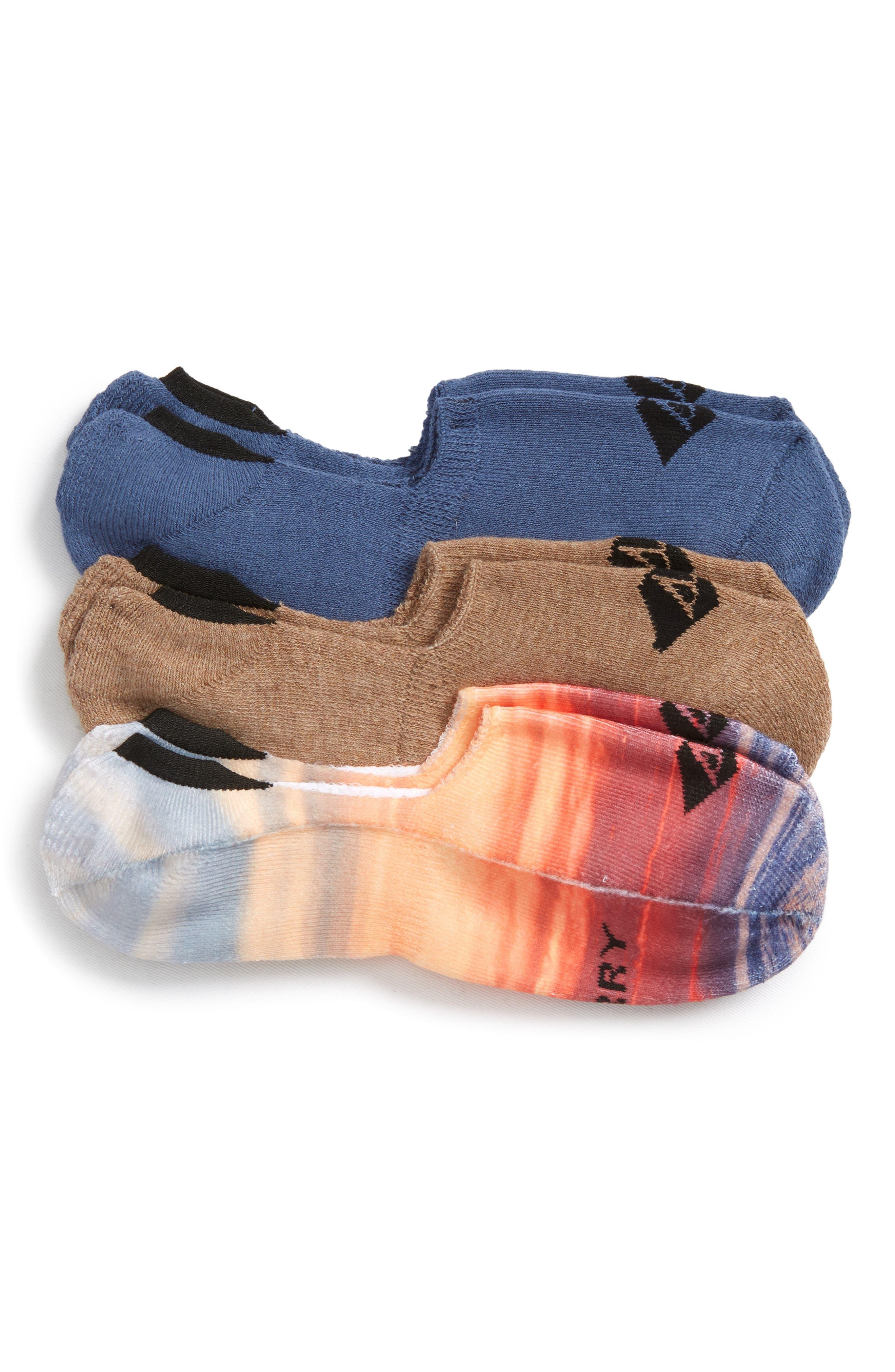 Assorted 3-Pack Liner Socks,                             Main thumbnail 1, color,                             Indigo Assorted