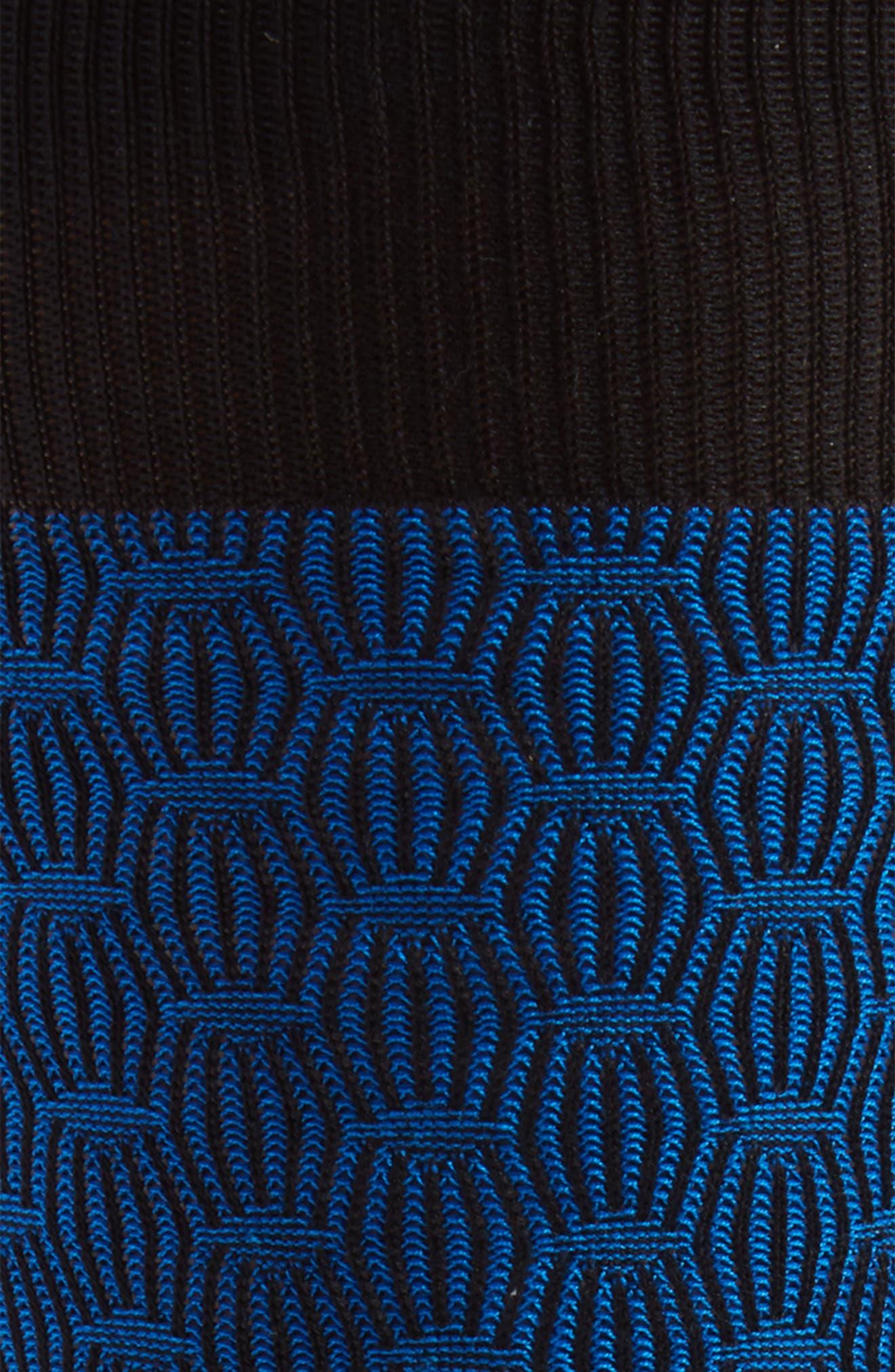 Diamond Crew Socks,                             Alternate thumbnail 2, color,                             Black