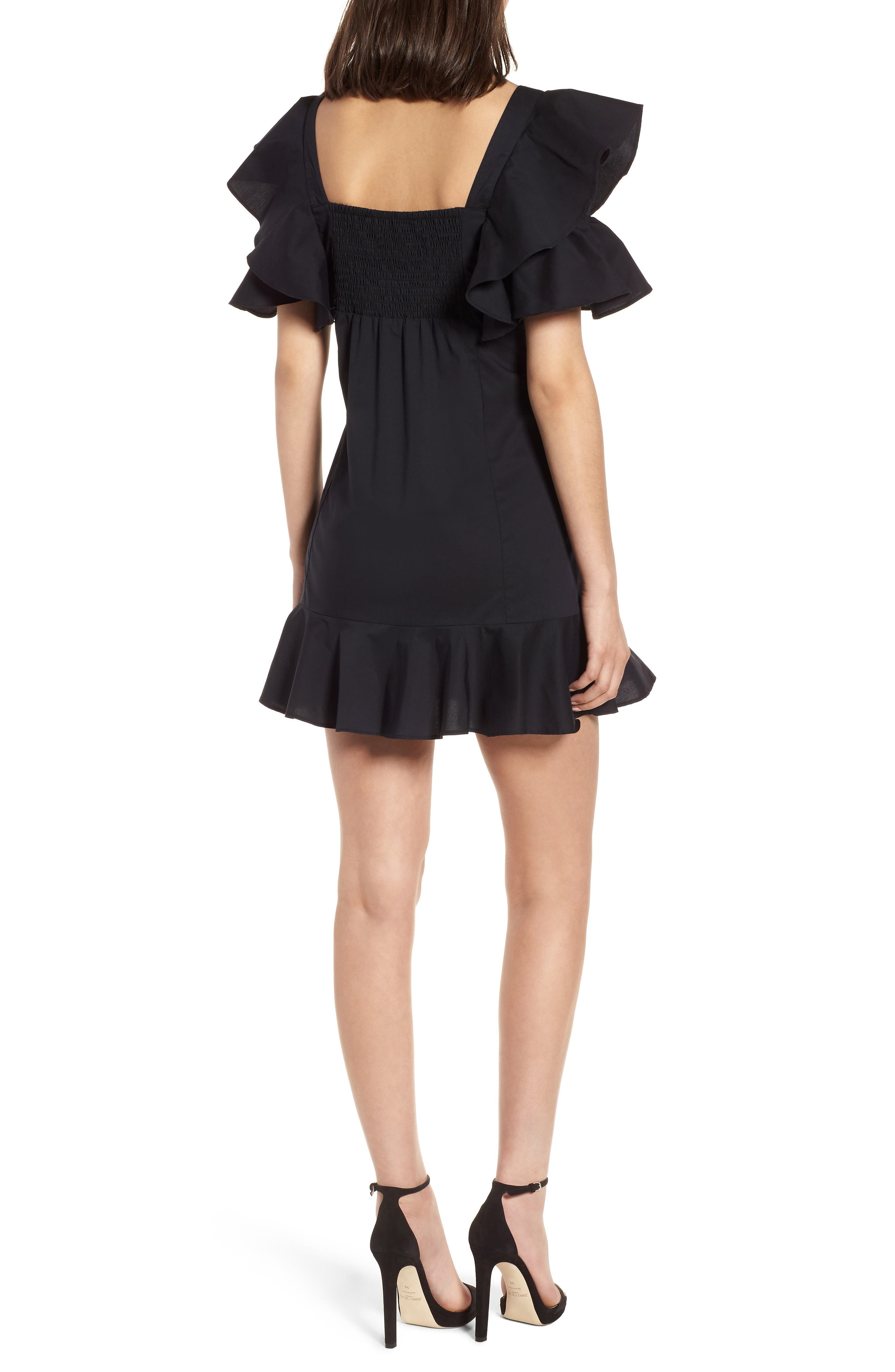 Alternate Image 2  - KENDALL + KYLIE Ruffle Sleeve Dress