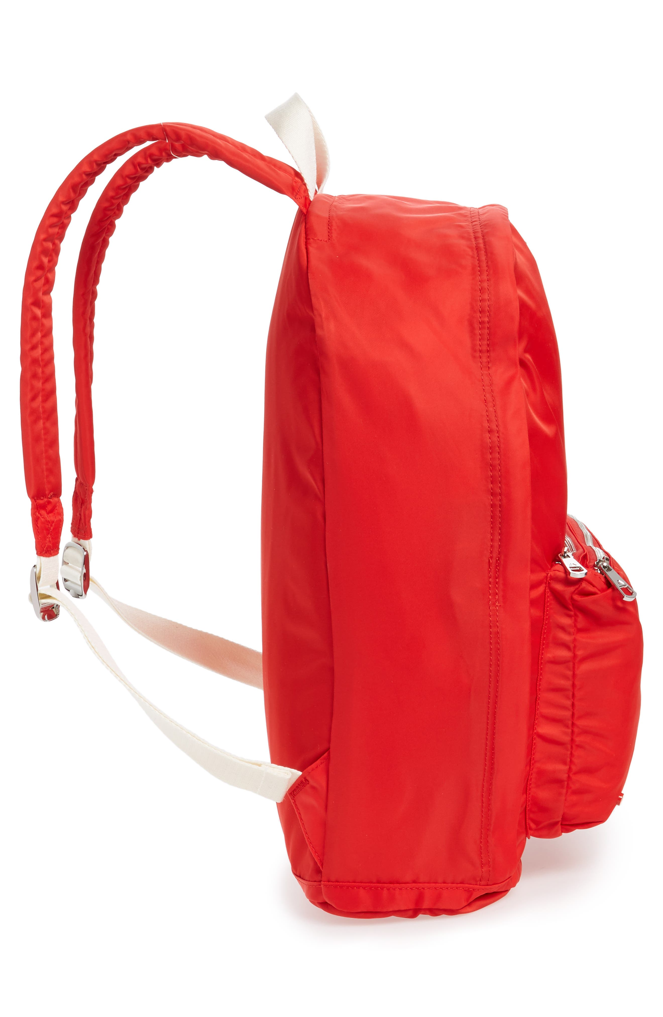 Heights Lorimer Nylon Backpack,                             Alternate thumbnail 5, color,                             Red