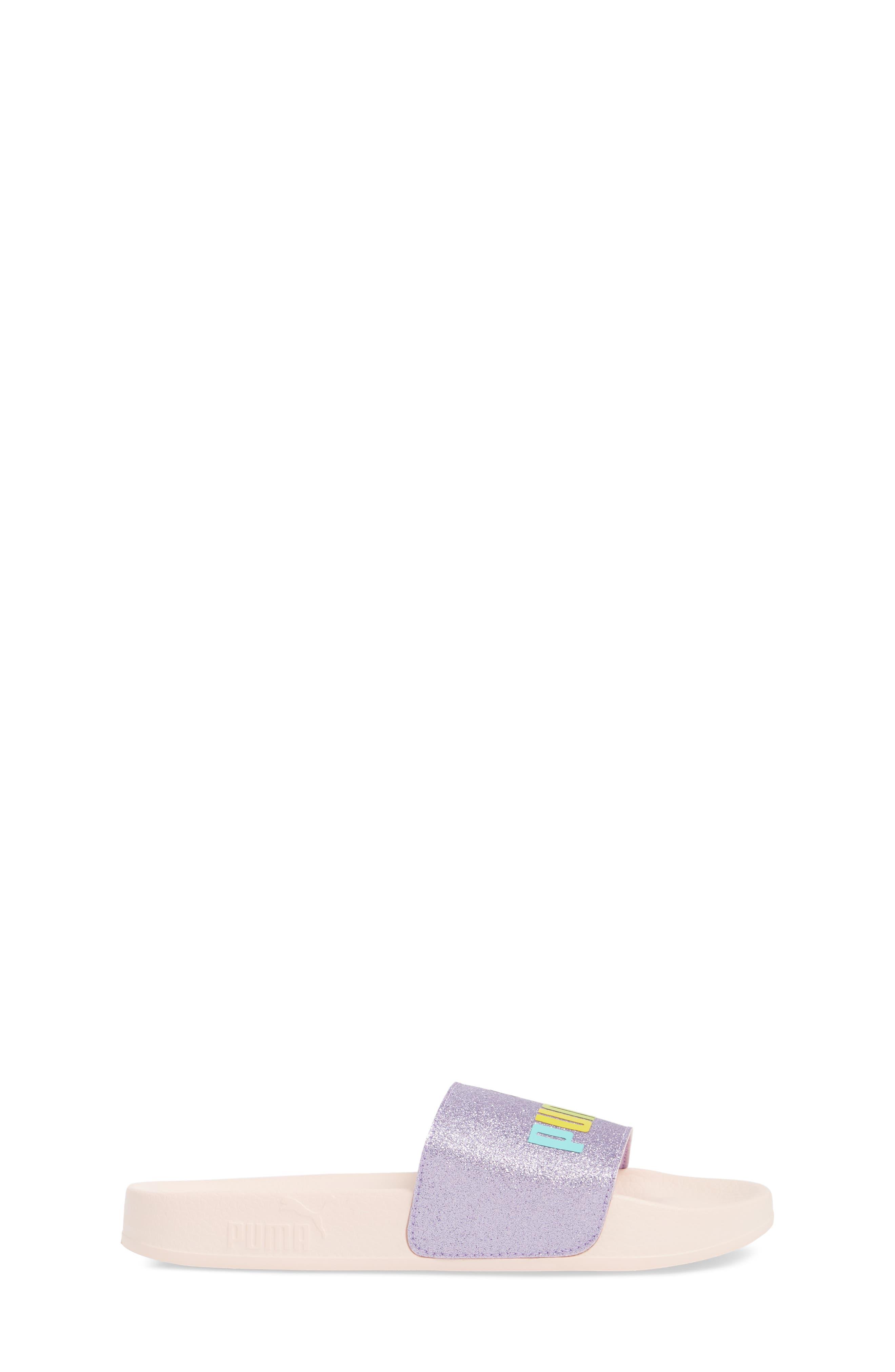 Leadcat Glitz Sport Slide,                             Alternate thumbnail 3, color,                             Purple Rose/ Pearl