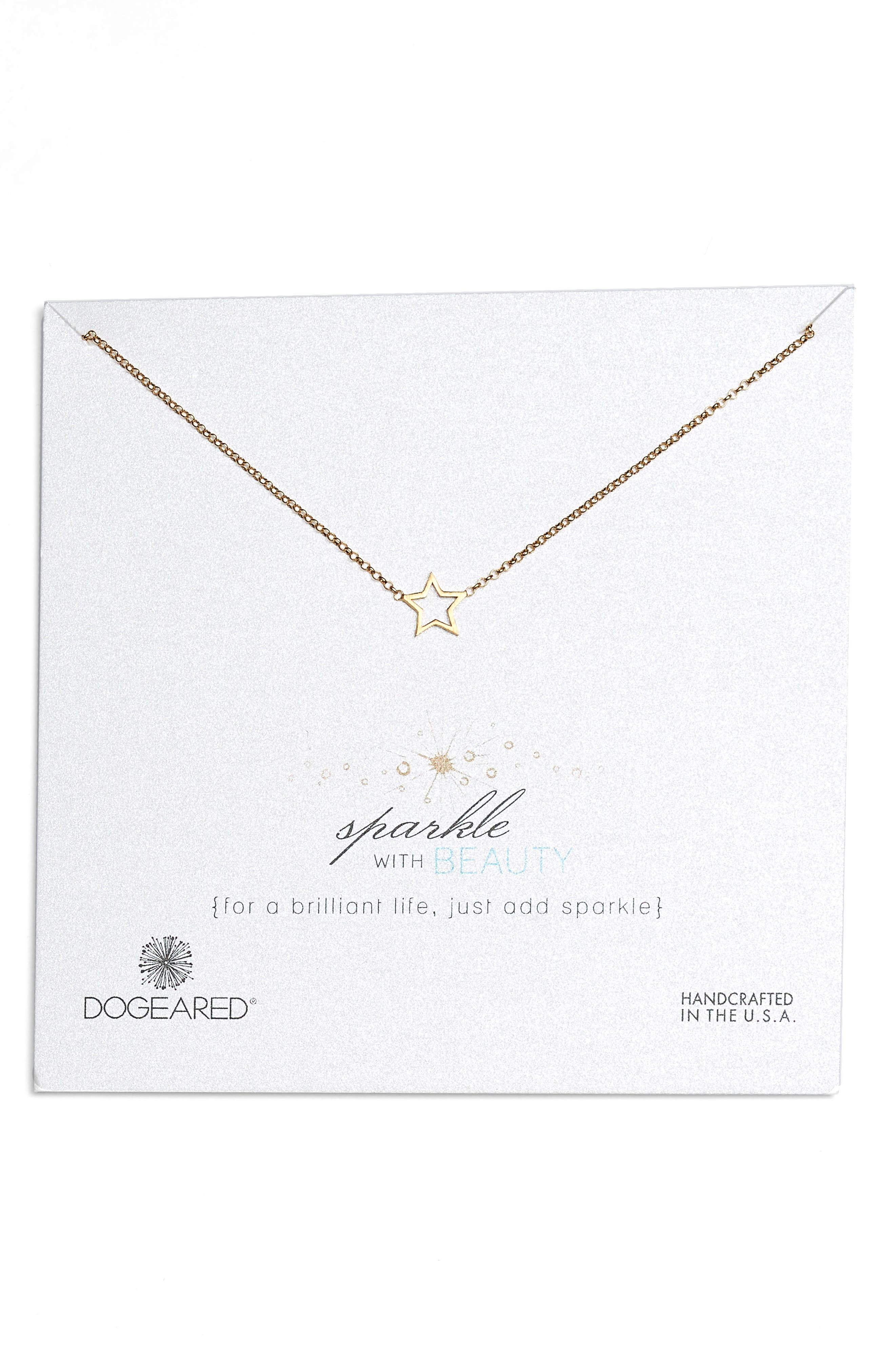 Sparkle with Beauty Necklace,                             Main thumbnail 1, color,                             Gold