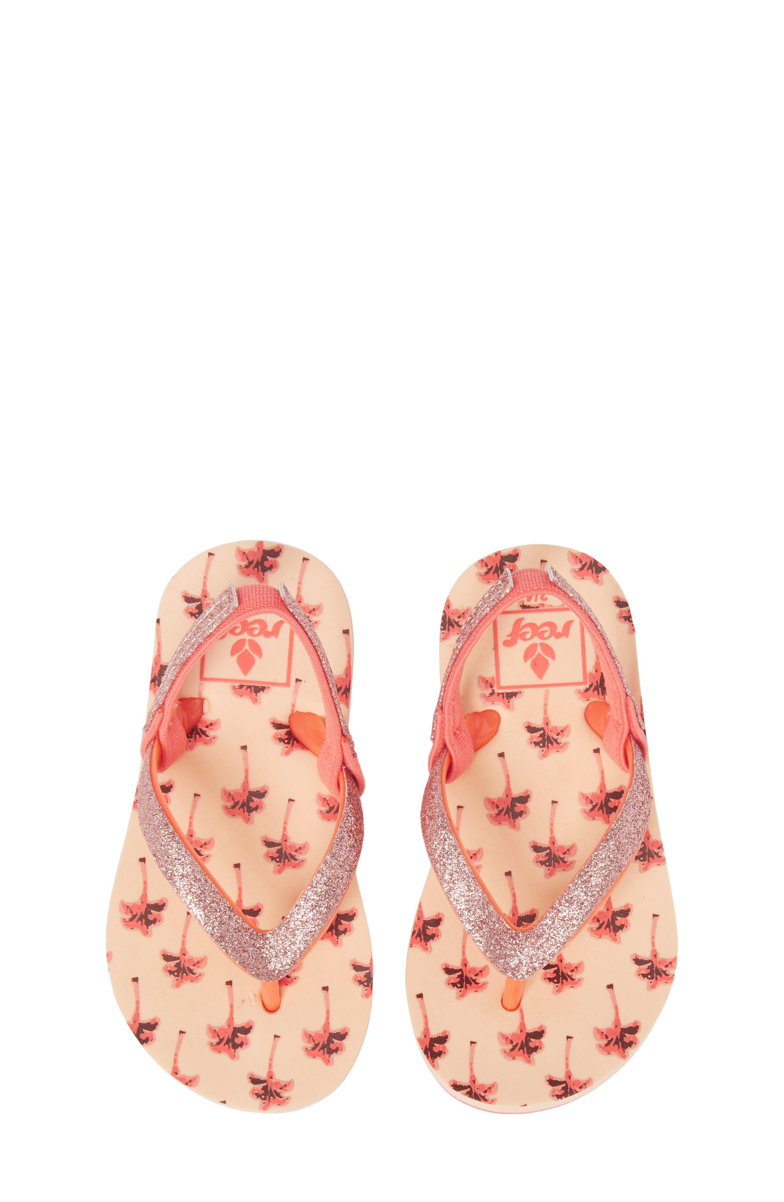 Little Stargazer Print Flip Flop,                         Main,                         color, Orange