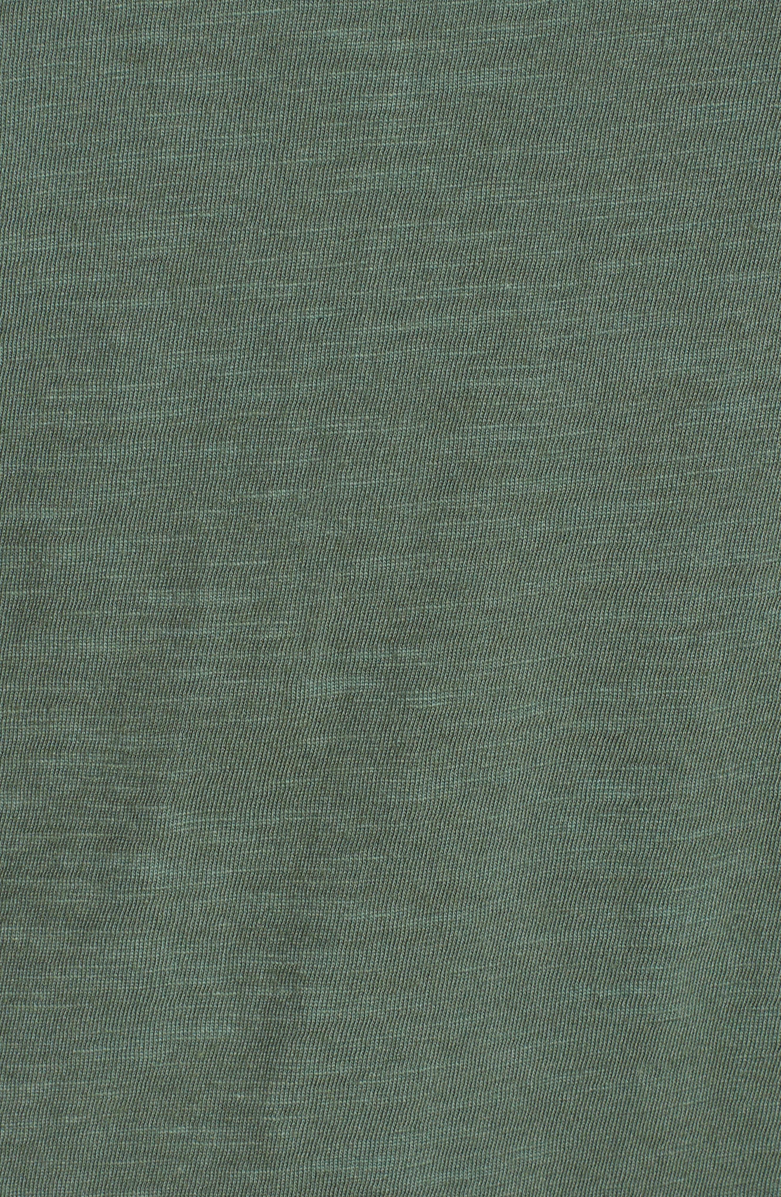 V-Neck Organic Cotton Tee,                             Alternate thumbnail 4, color,                             Nori