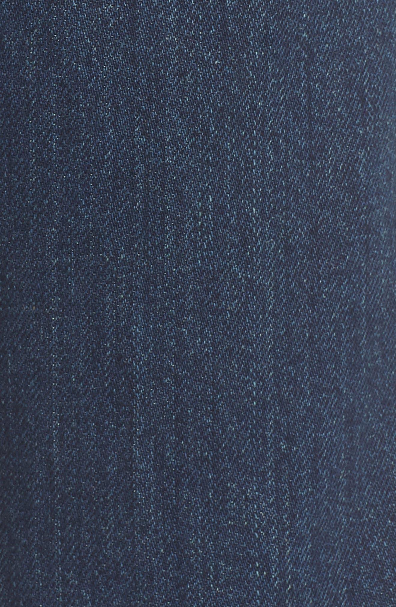 1970 The Flared Crop Jeans,                             Alternate thumbnail 6, color,                             Blue Denim