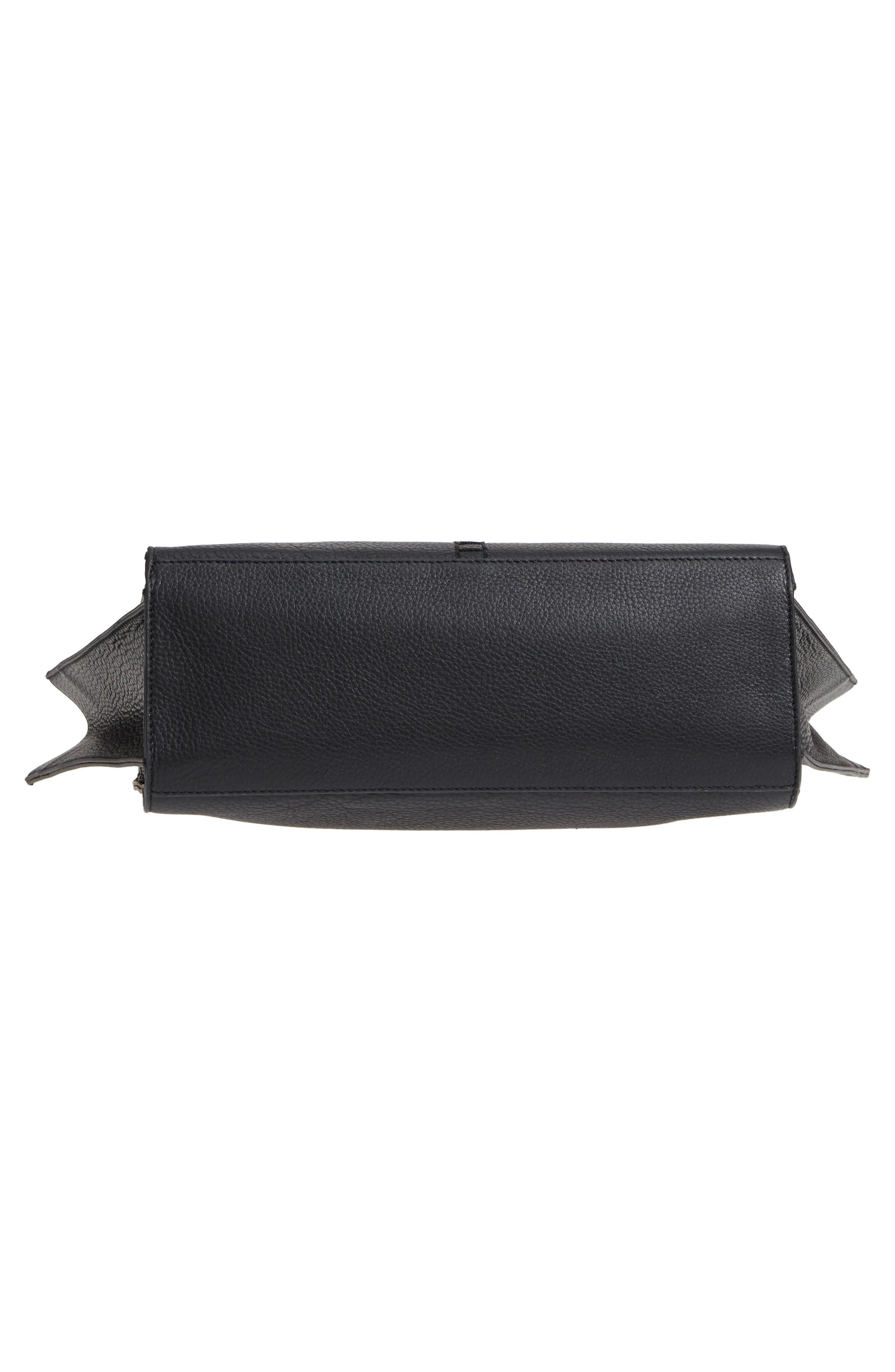 Mallory Leather Hobo,                             Alternate thumbnail 3, color,                             Black