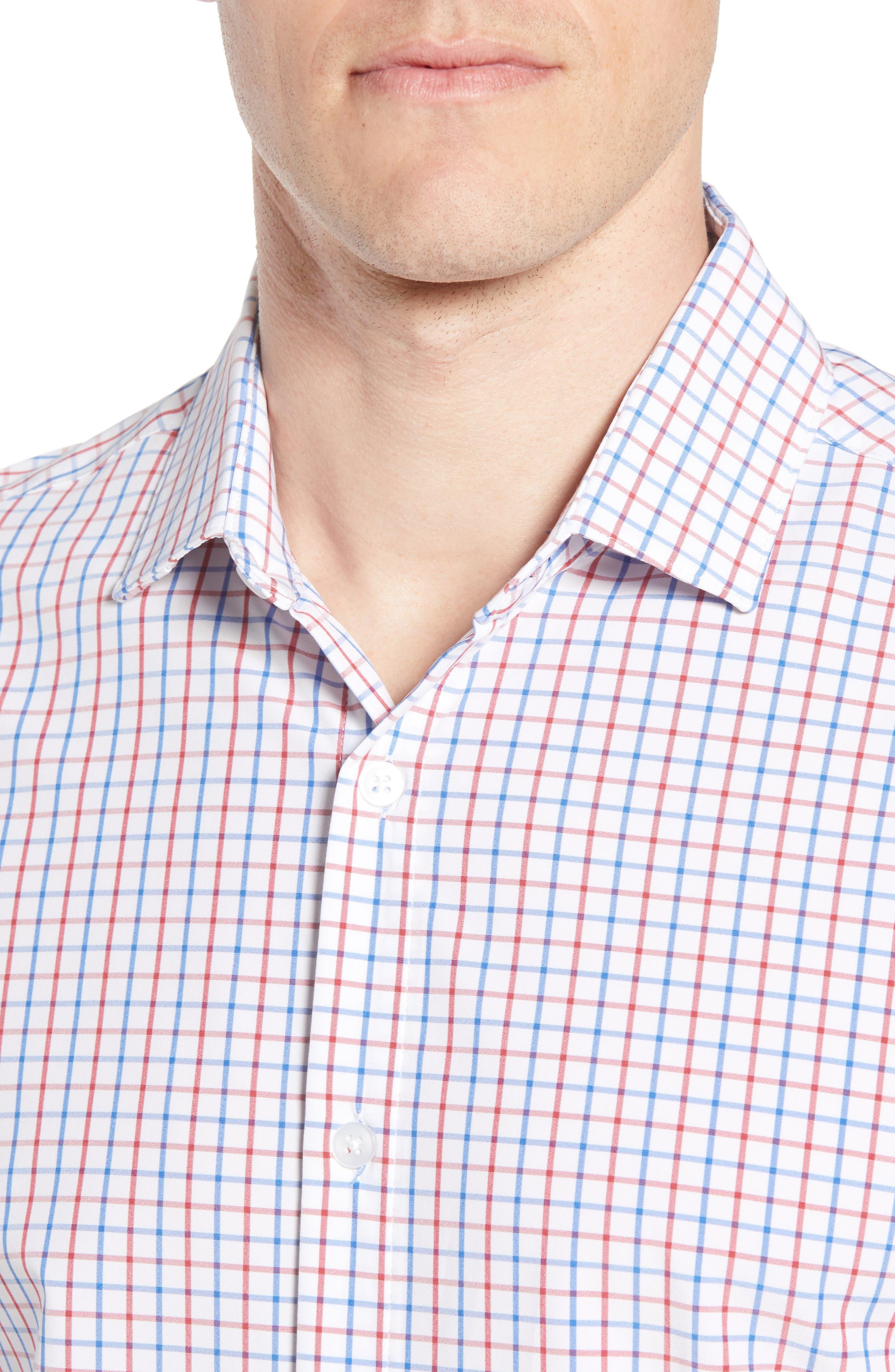 Henry Slim Fit Check Performance Sport Shirt,                             Alternate thumbnail 2, color,                             Multi
