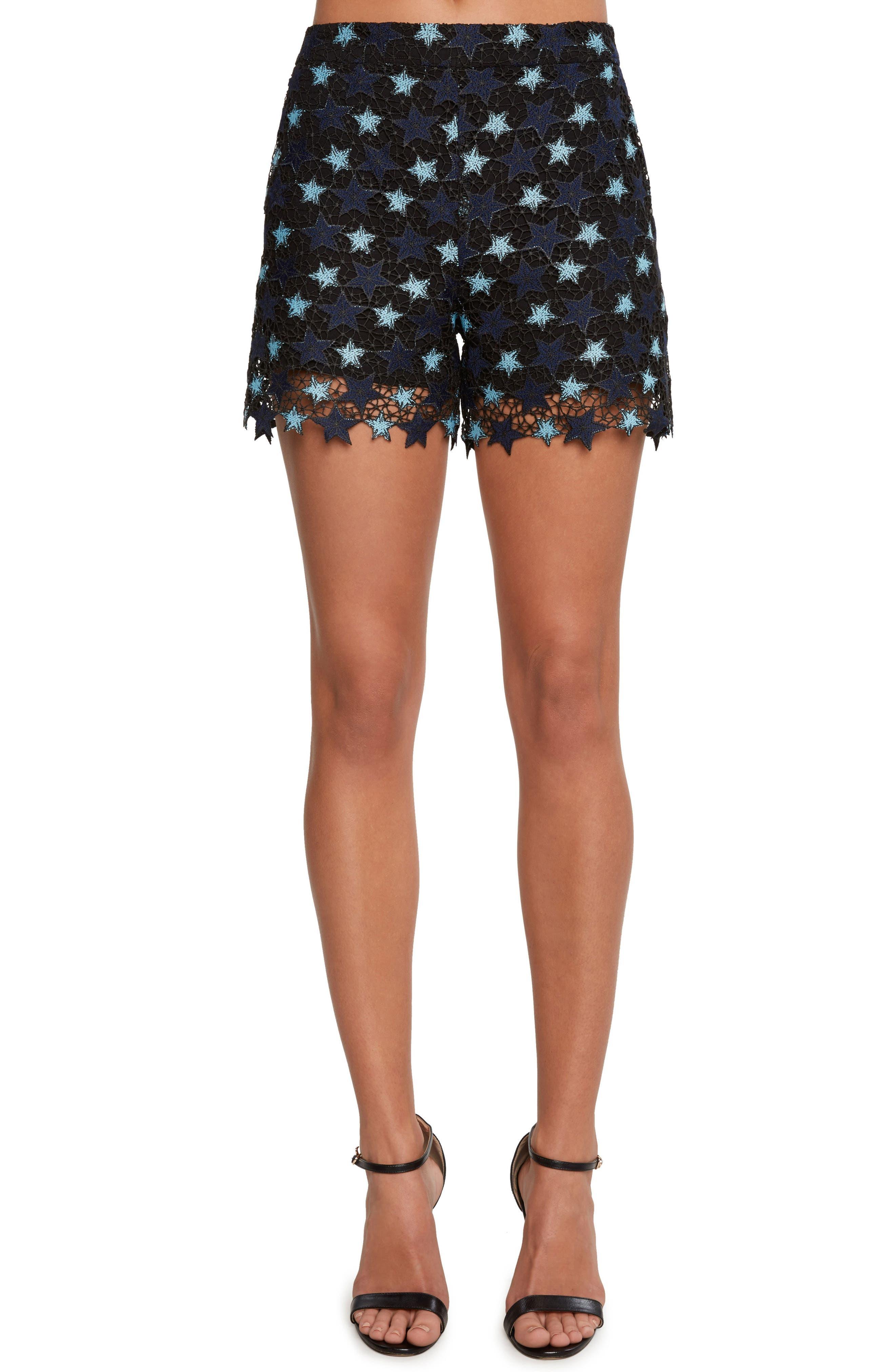 Star Lace Shorts,                             Main thumbnail 1, color,                             Navy