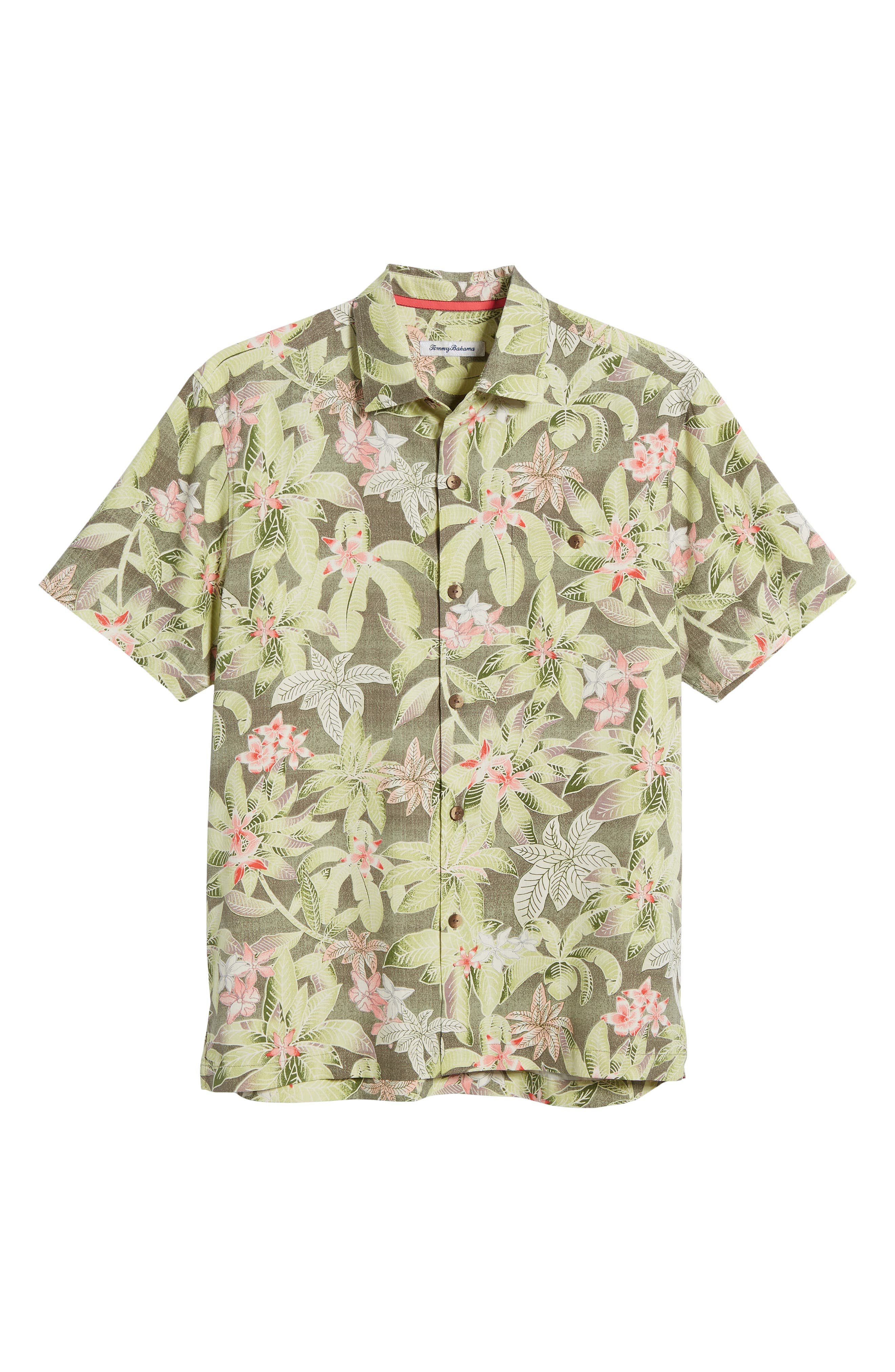 El Medano Jungle Silk Camp Shirt,                             Alternate thumbnail 6, color,                             Dusty Thyme