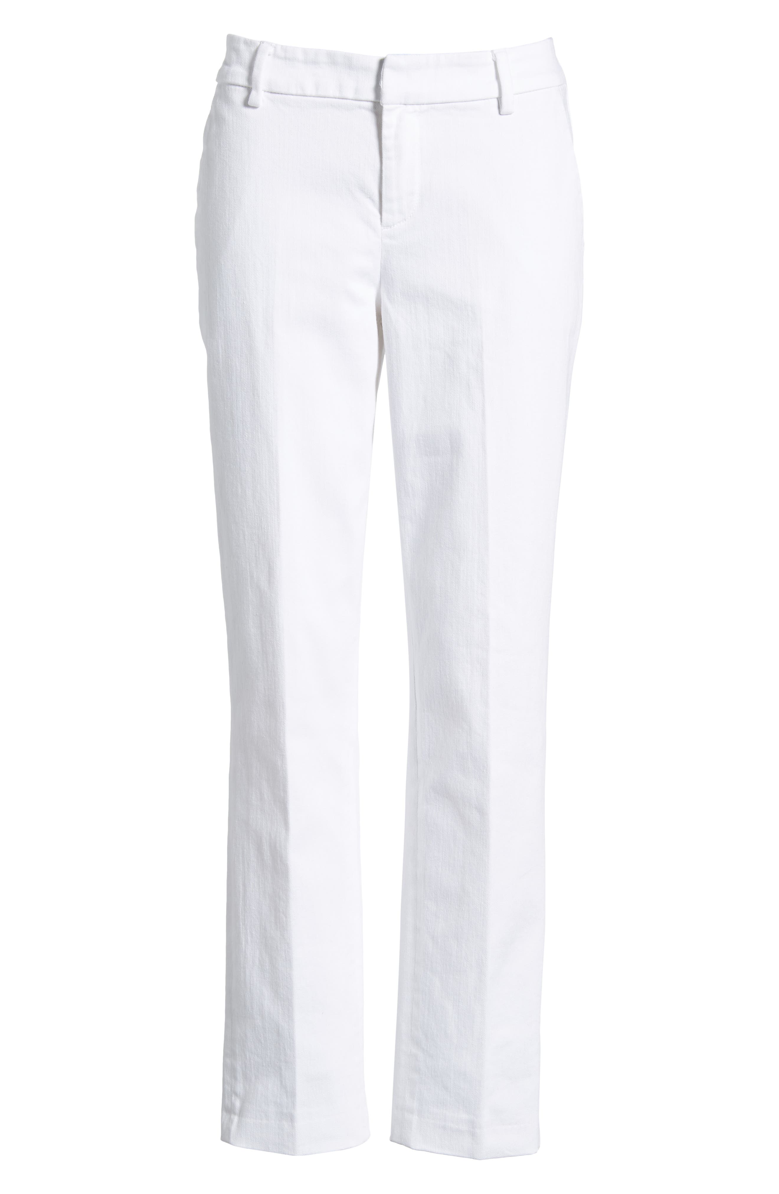 Kelsey Trousers,                             Alternate thumbnail 6, color,                             Bright White