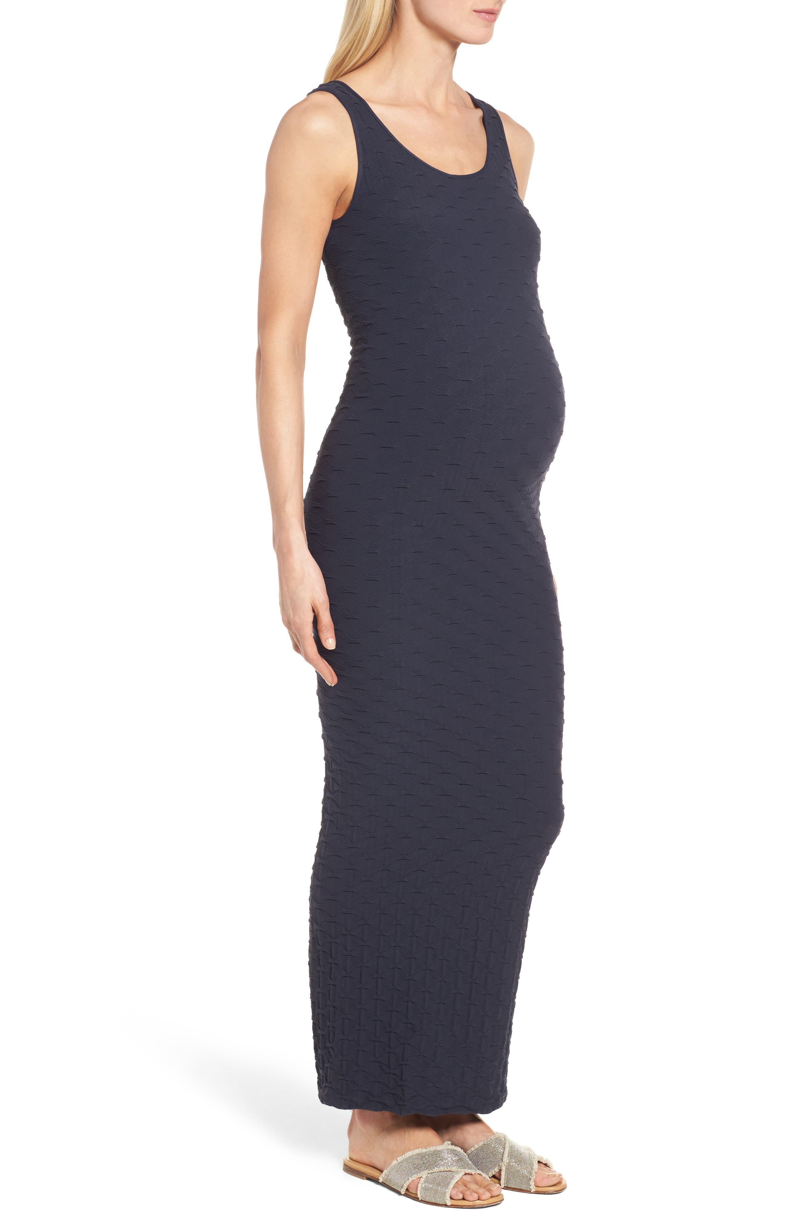 Alternate Image 3  - Tees by Tina 'Lattice' Maxi Maternity Dress