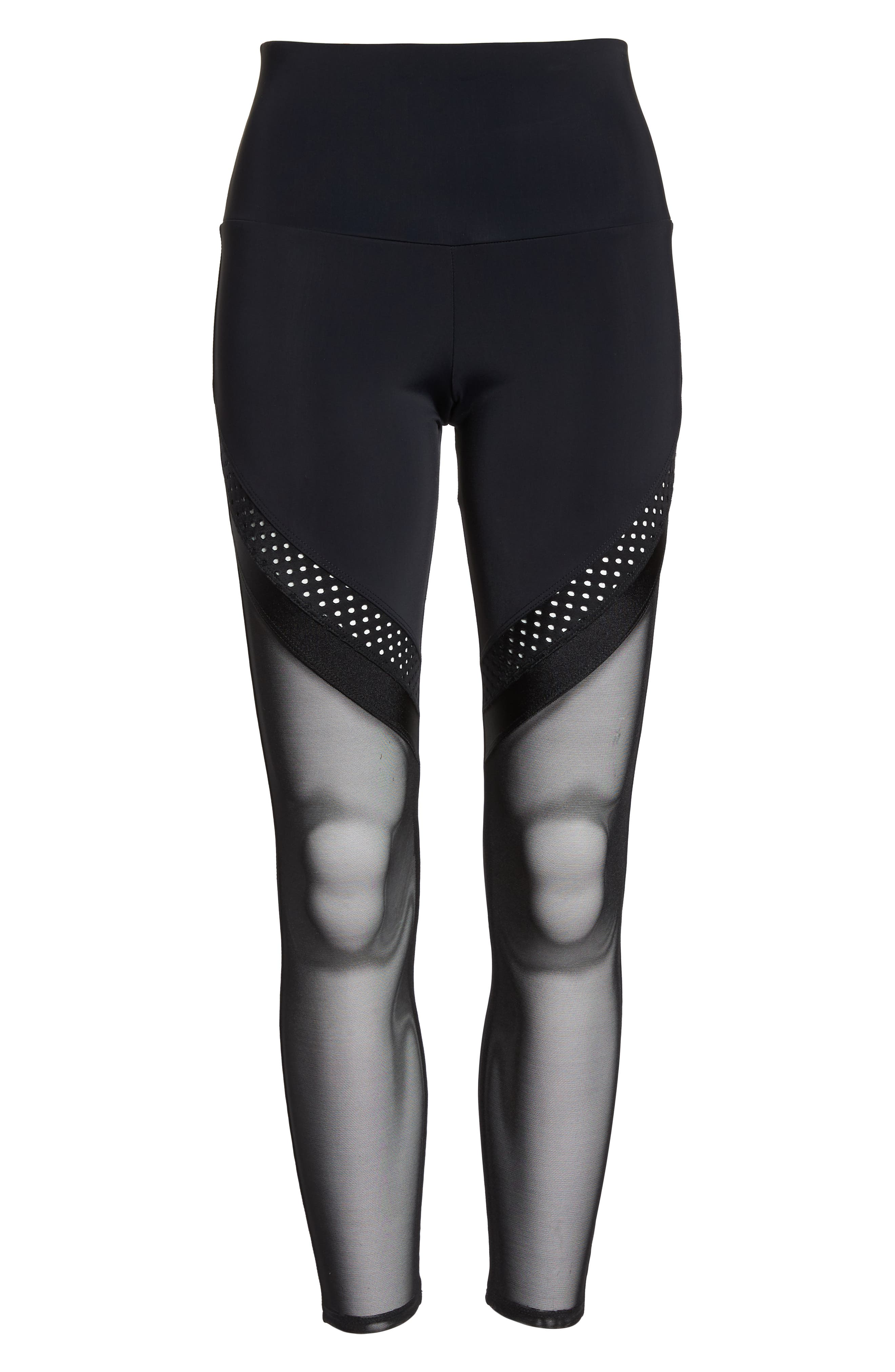 Chrome Leggings,                             Alternate thumbnail 7, color,                             Black
