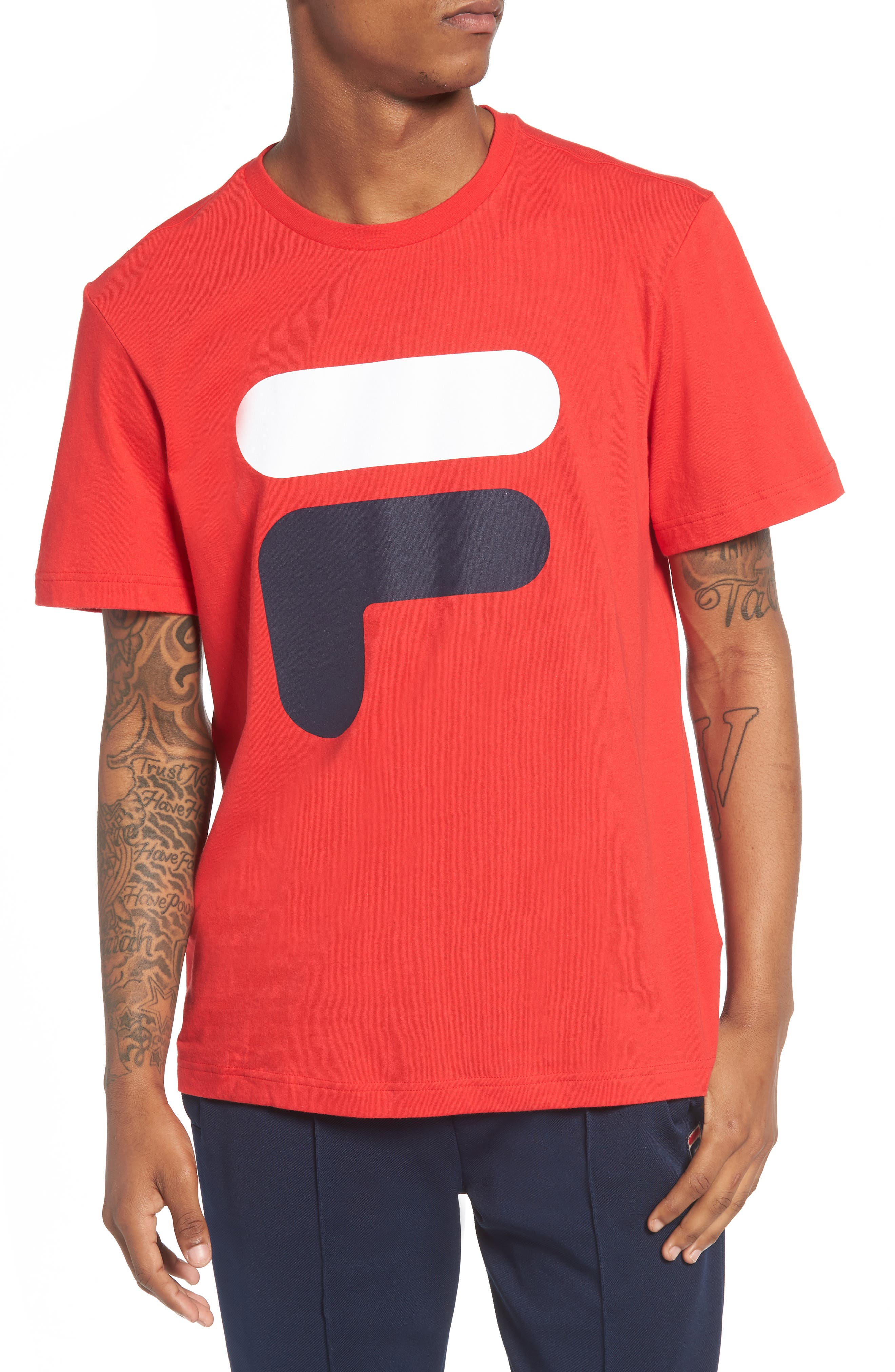 Floating F T-Shirt,                         Main,                         color, Chinese Red