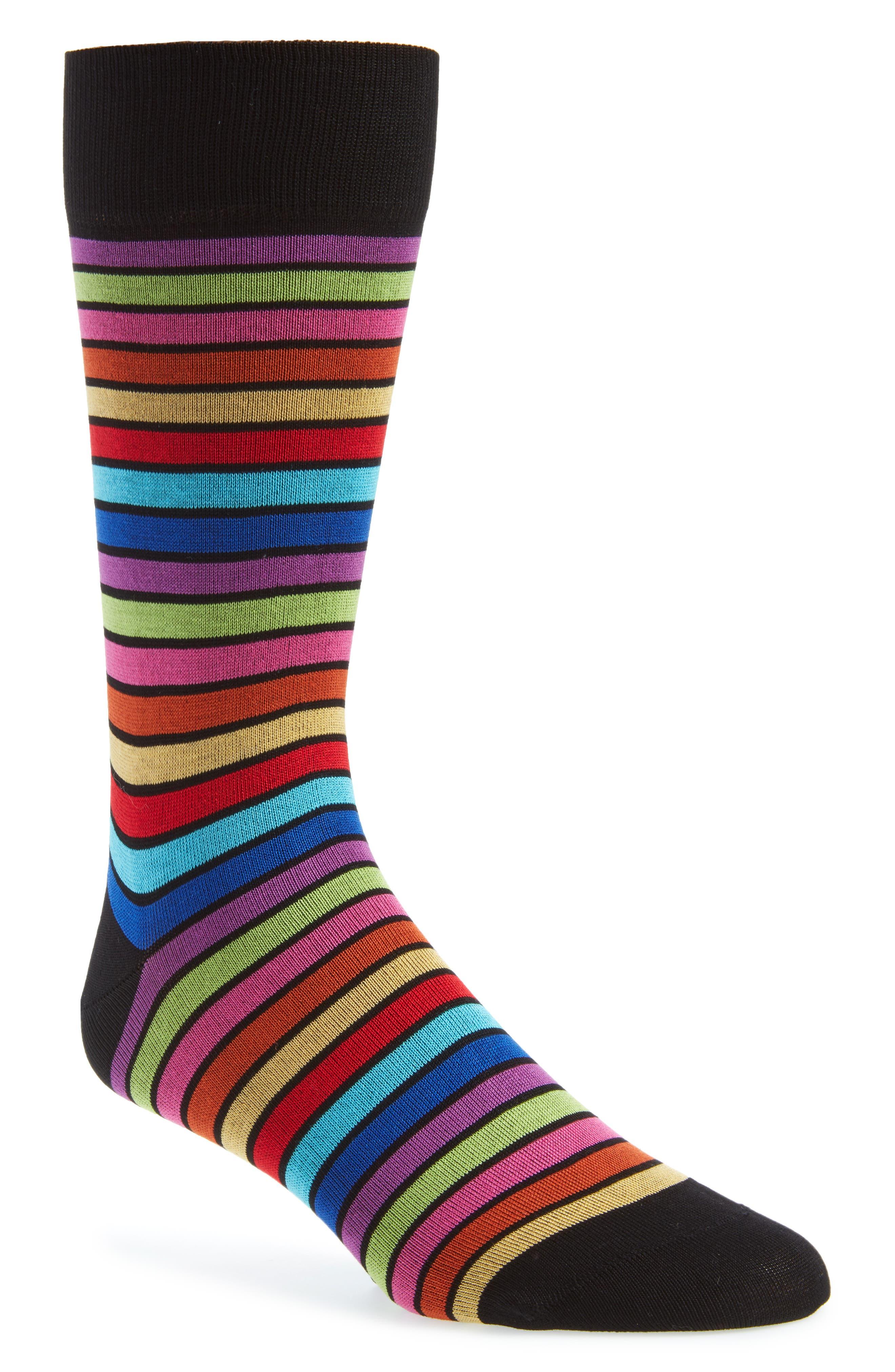 Stripe Socks,                             Main thumbnail 1, color,                             Black