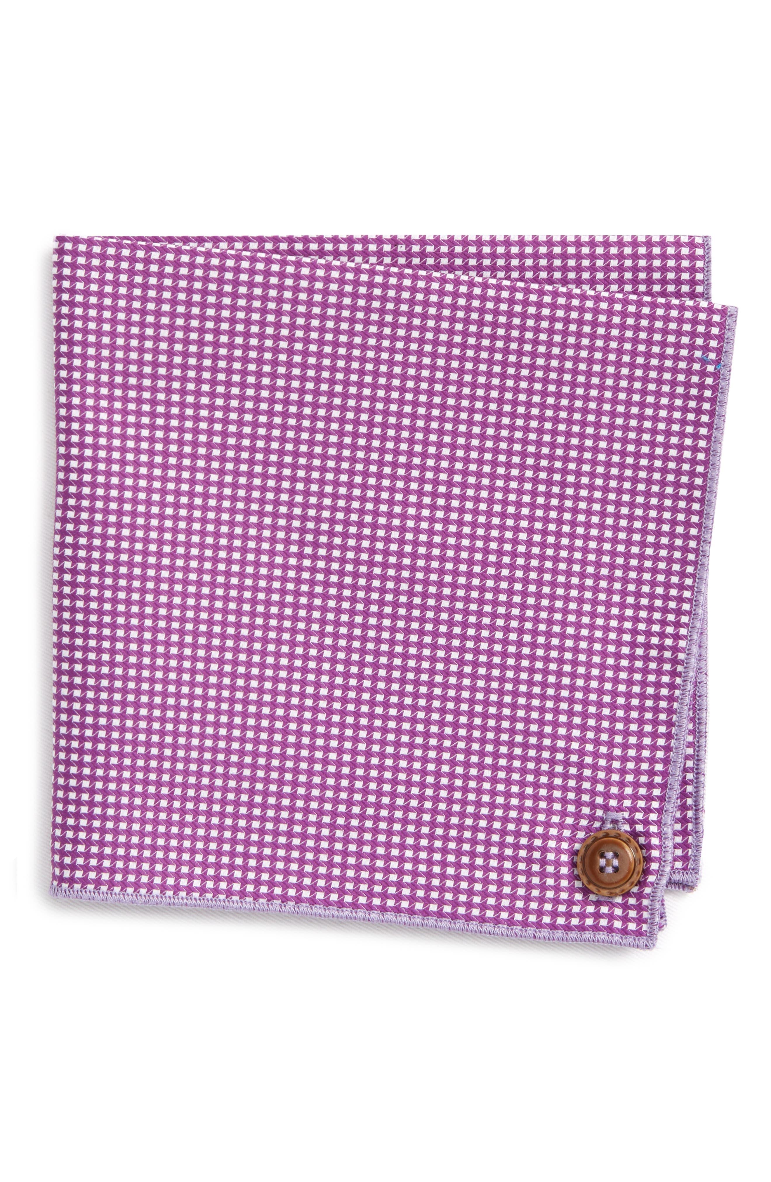 The Hound Cotton Pocket Square,                             Main thumbnail 1, color,                             Purple
