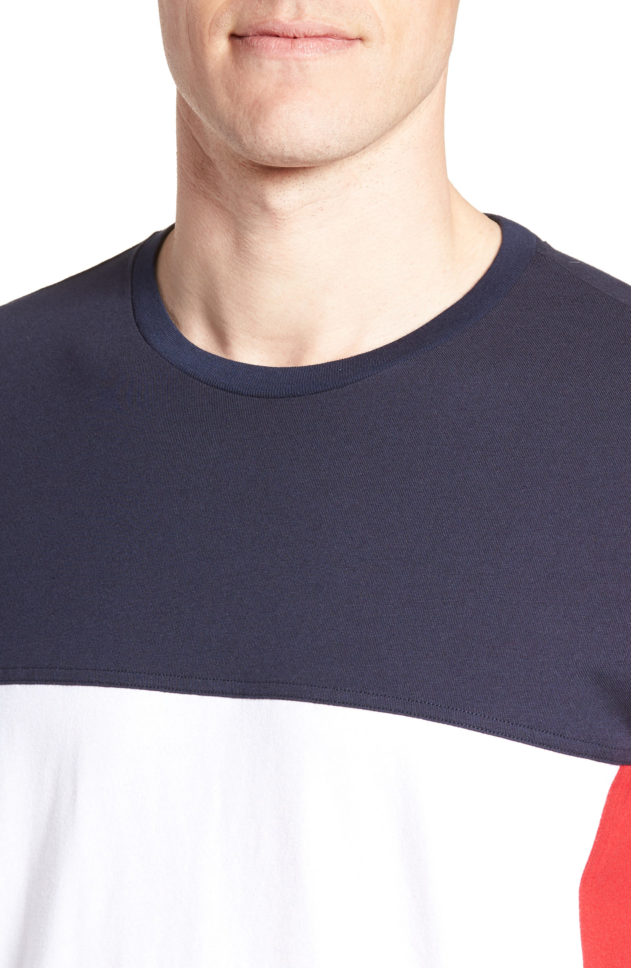 Colorblock T-Shirt,                             Alternate thumbnail 4, color,                             Dark Navy