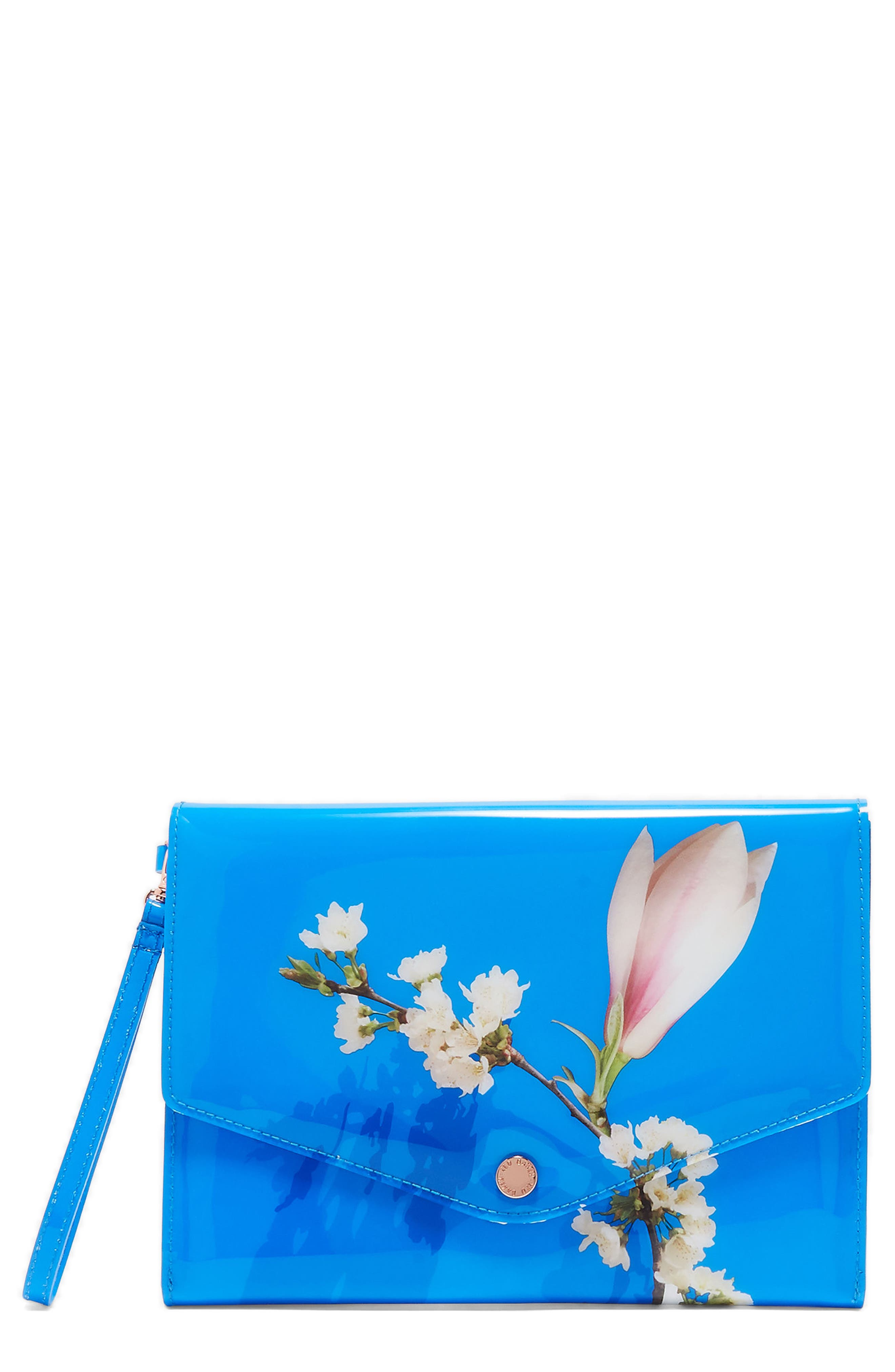 Harmony Envelope Clutch,                             Main thumbnail 1, color,                             Bright Blue
