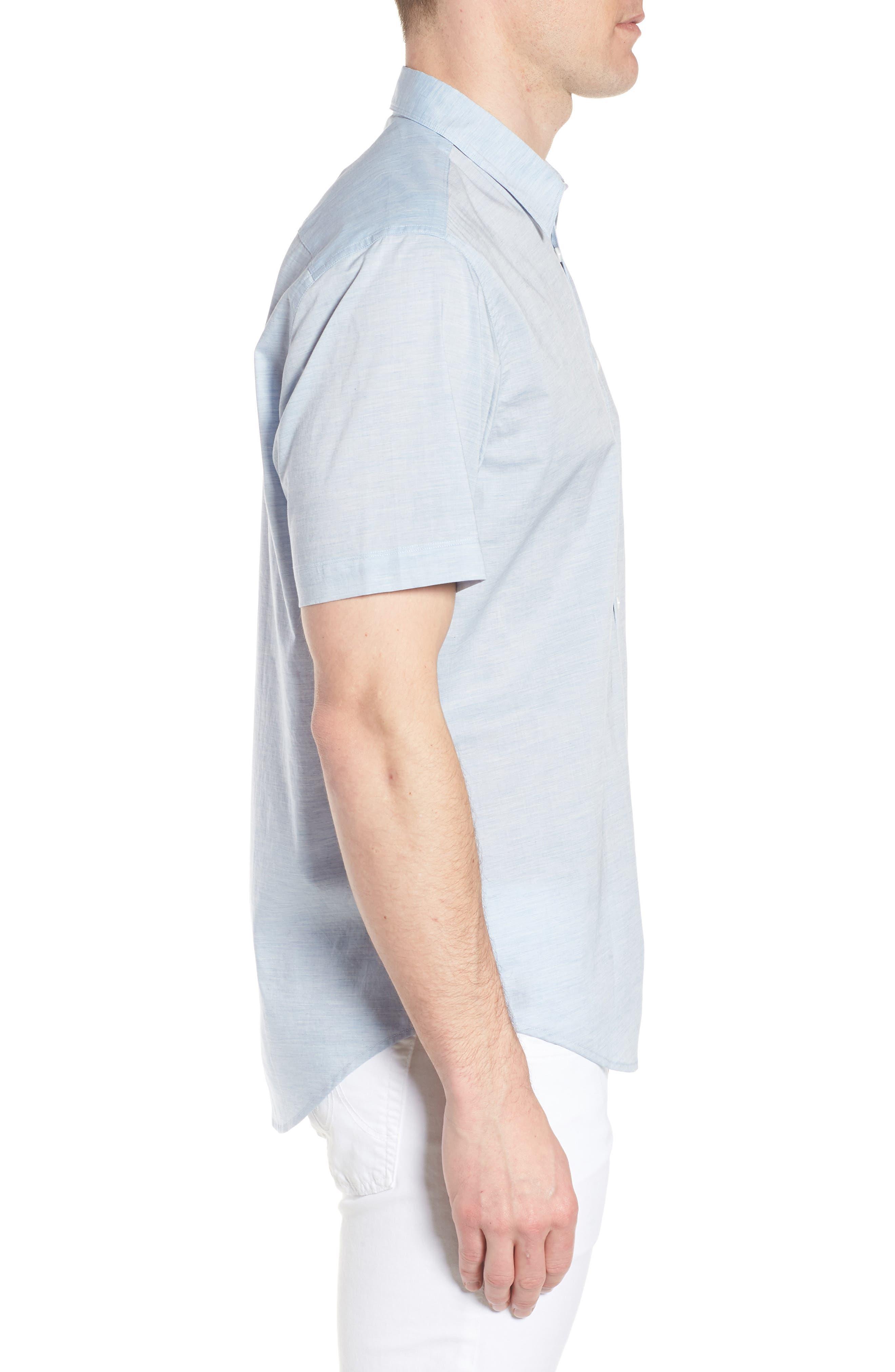 Solana Regular Fit Short Sleeve Sport Shirt,                             Alternate thumbnail 4, color,                             Blue