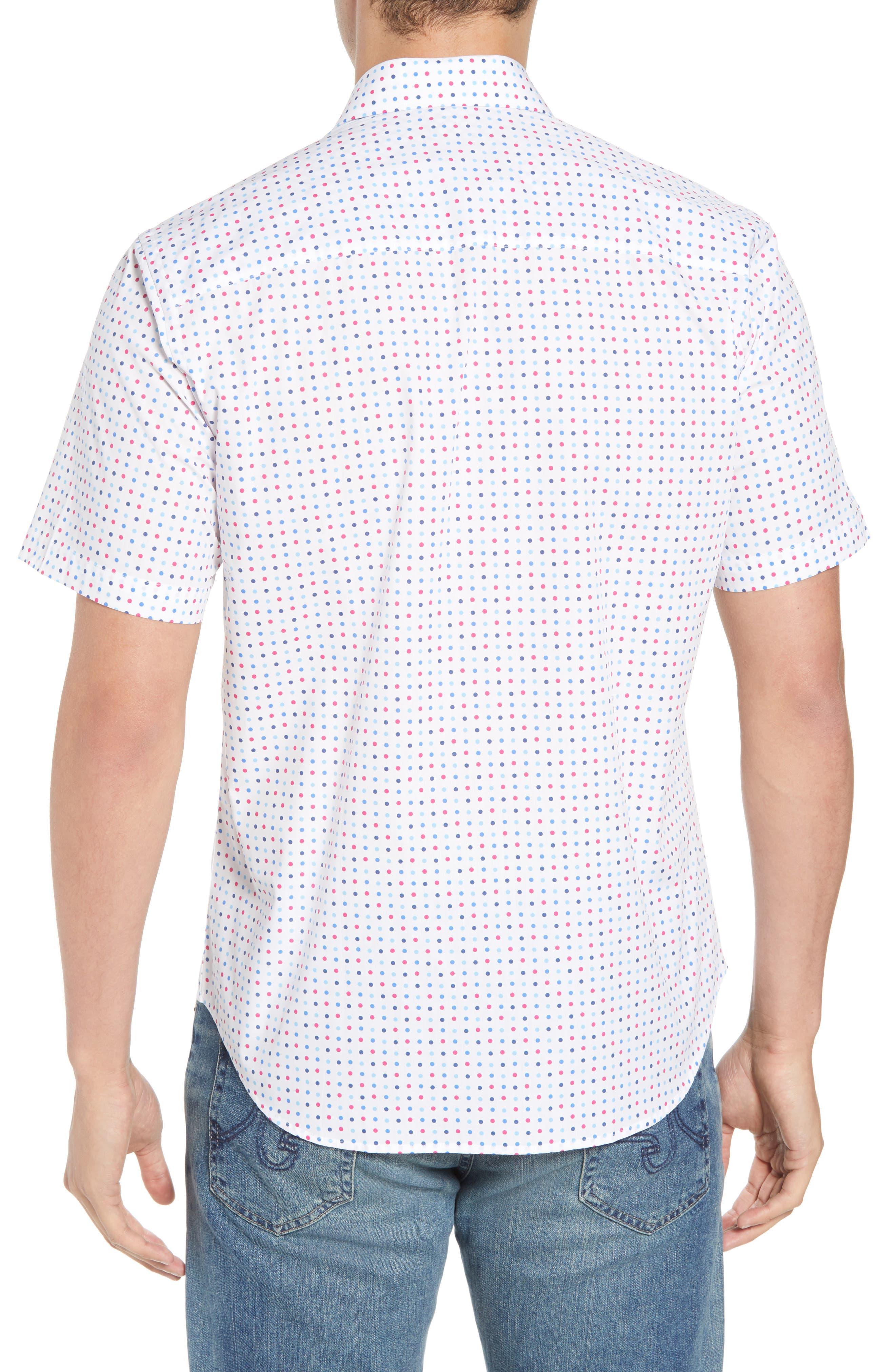 Banning Regular Fit Dot Sport Shirt,                             Alternate thumbnail 3, color,                             White