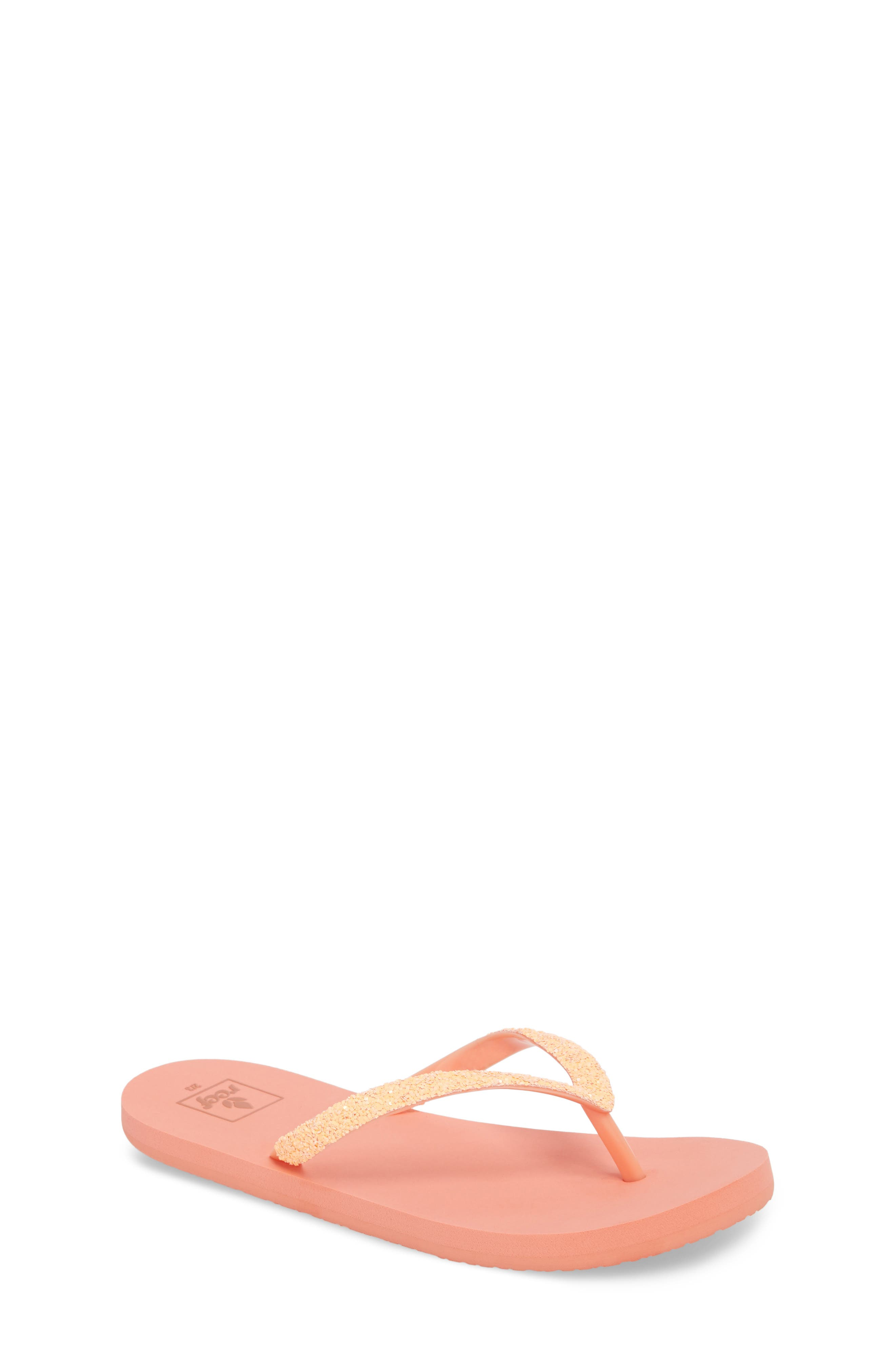 Little Stargazer Glitter Sandal,                             Main thumbnail 1, color,                             Orange