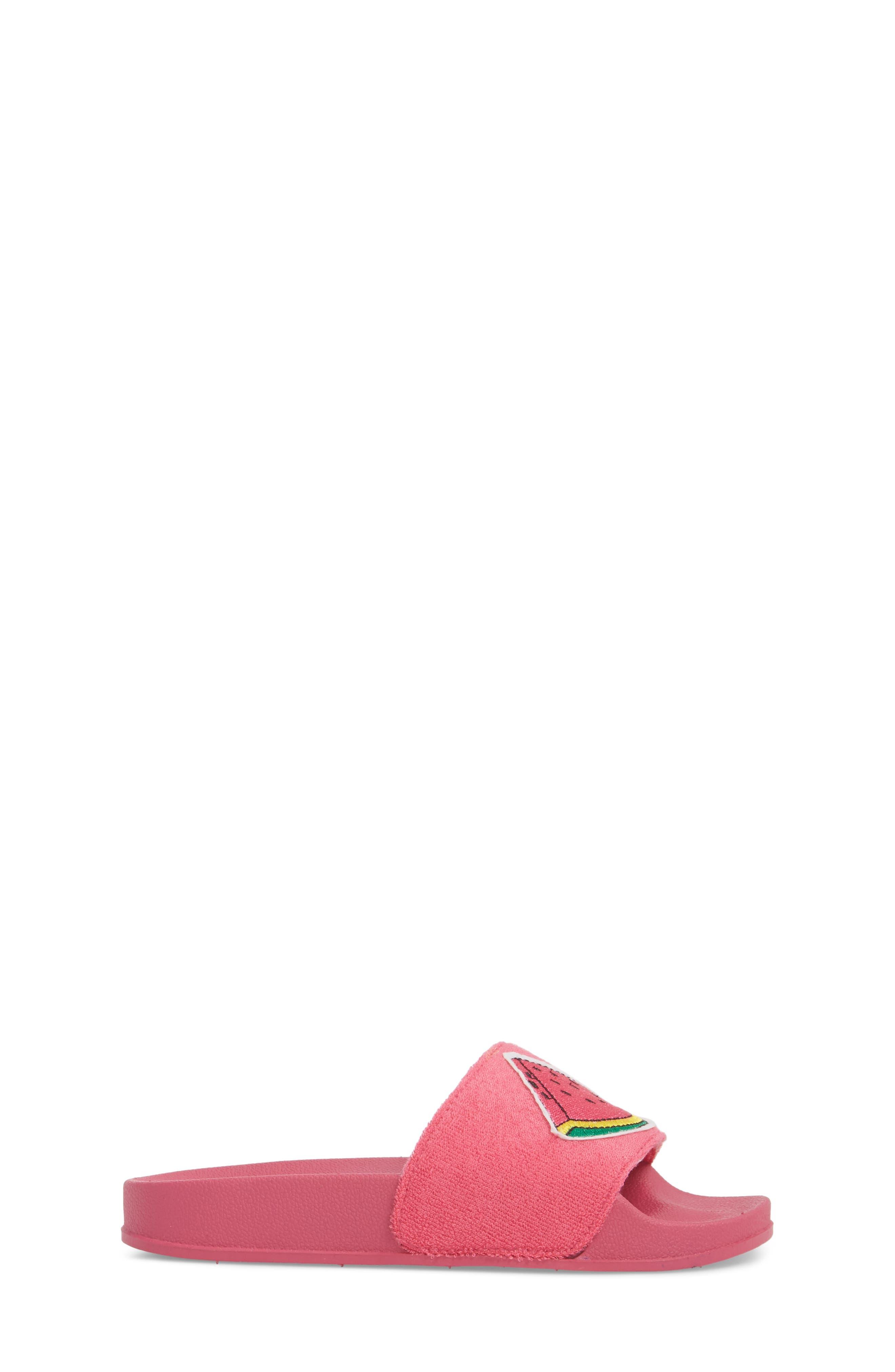 Selby Fruit Embroidered Sport Slide,                             Alternate thumbnail 3, color,                             Fuchsia