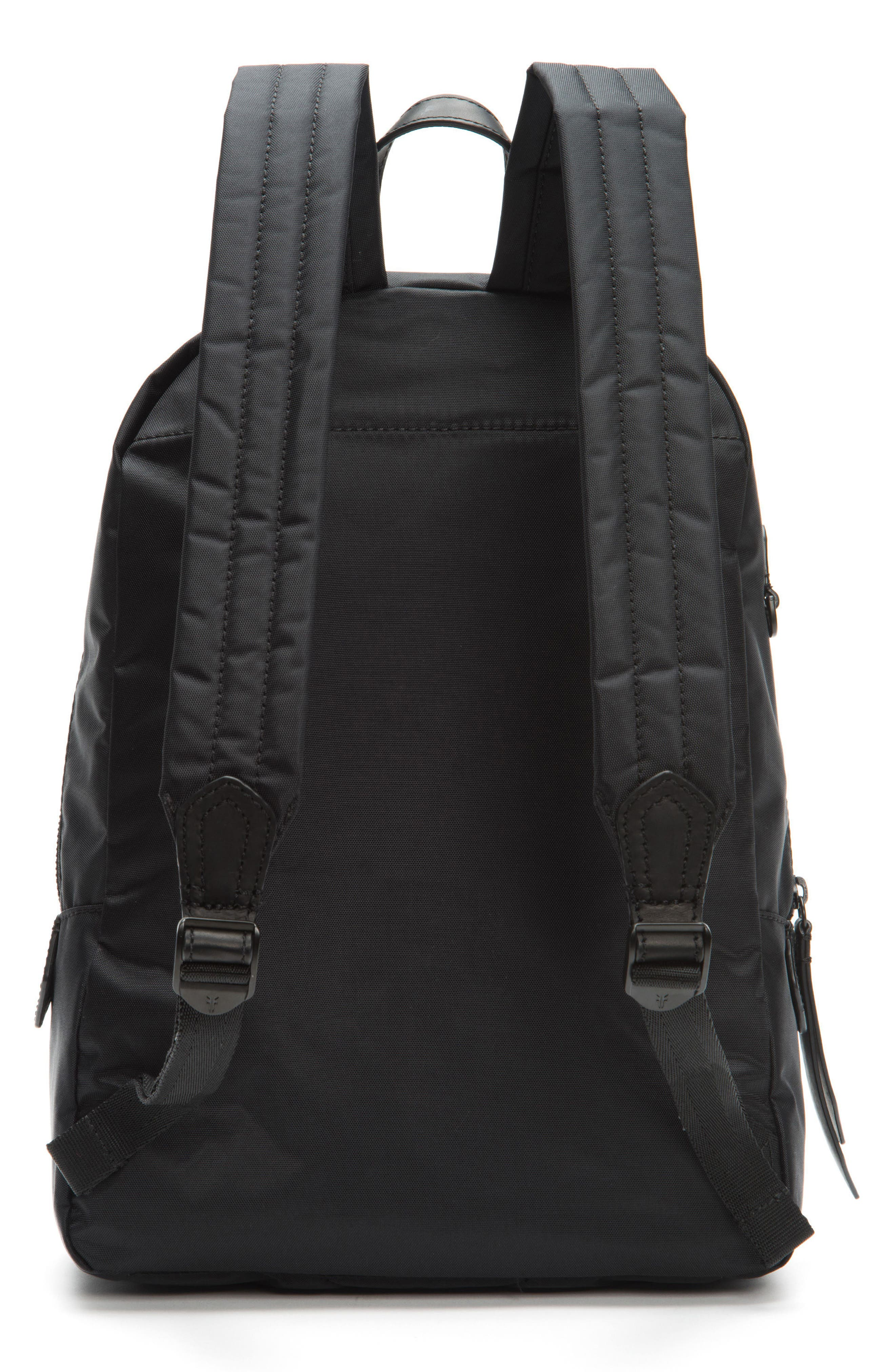 Ivy Nylon Backpack,                             Alternate thumbnail 3, color,                             Matte Black