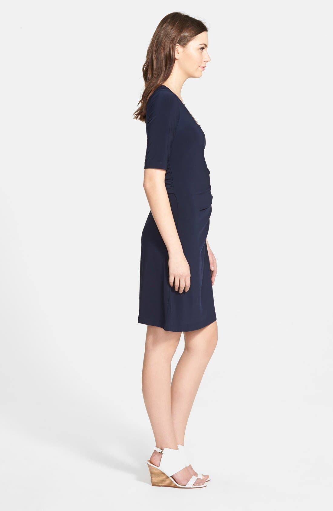 Alternate Image 4  - Japanese Weekend Side Tie Maternity Dress