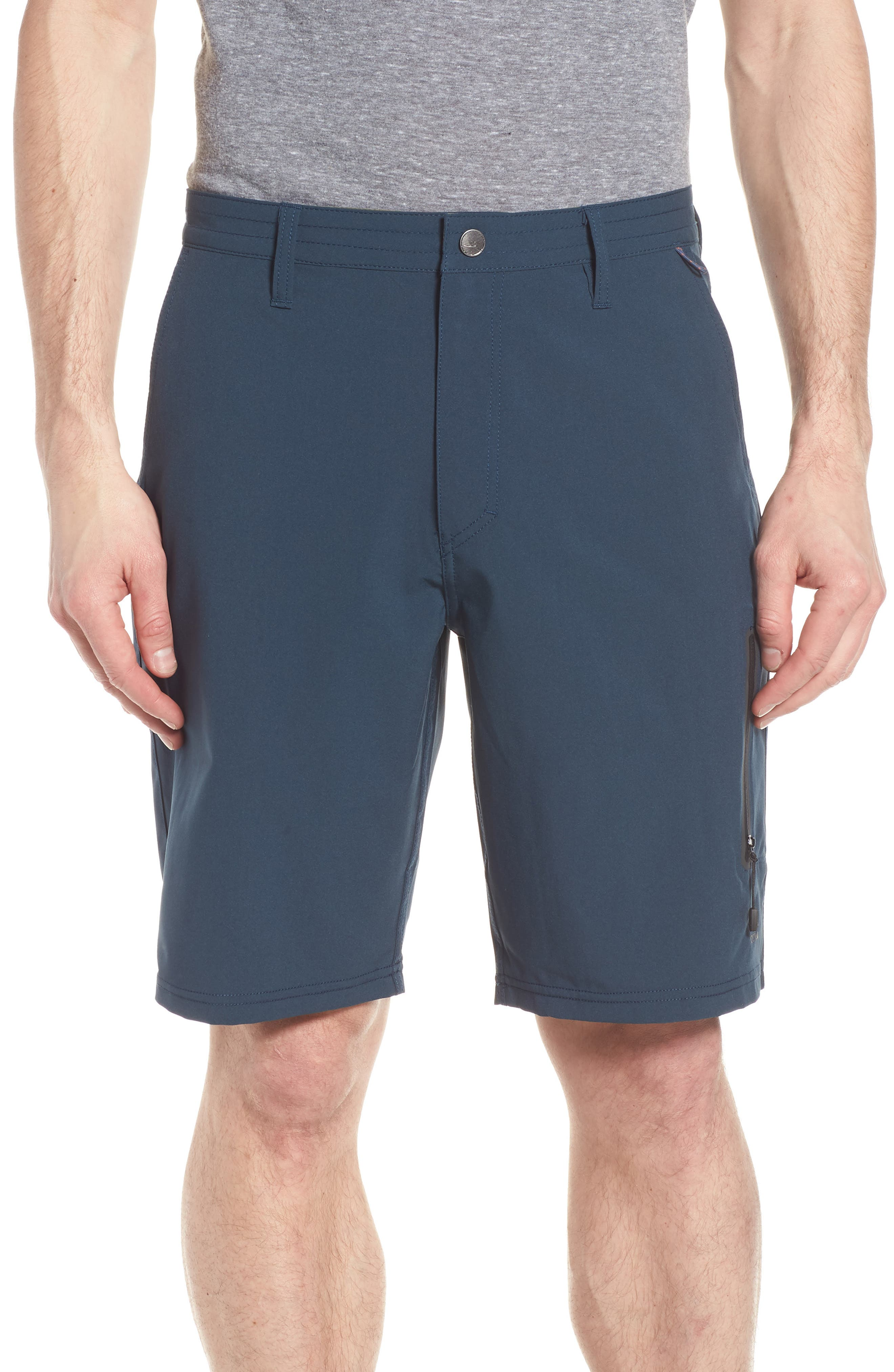 Pipeline Hybrid Shorts,                             Main thumbnail 1, color,                             Lake Blue