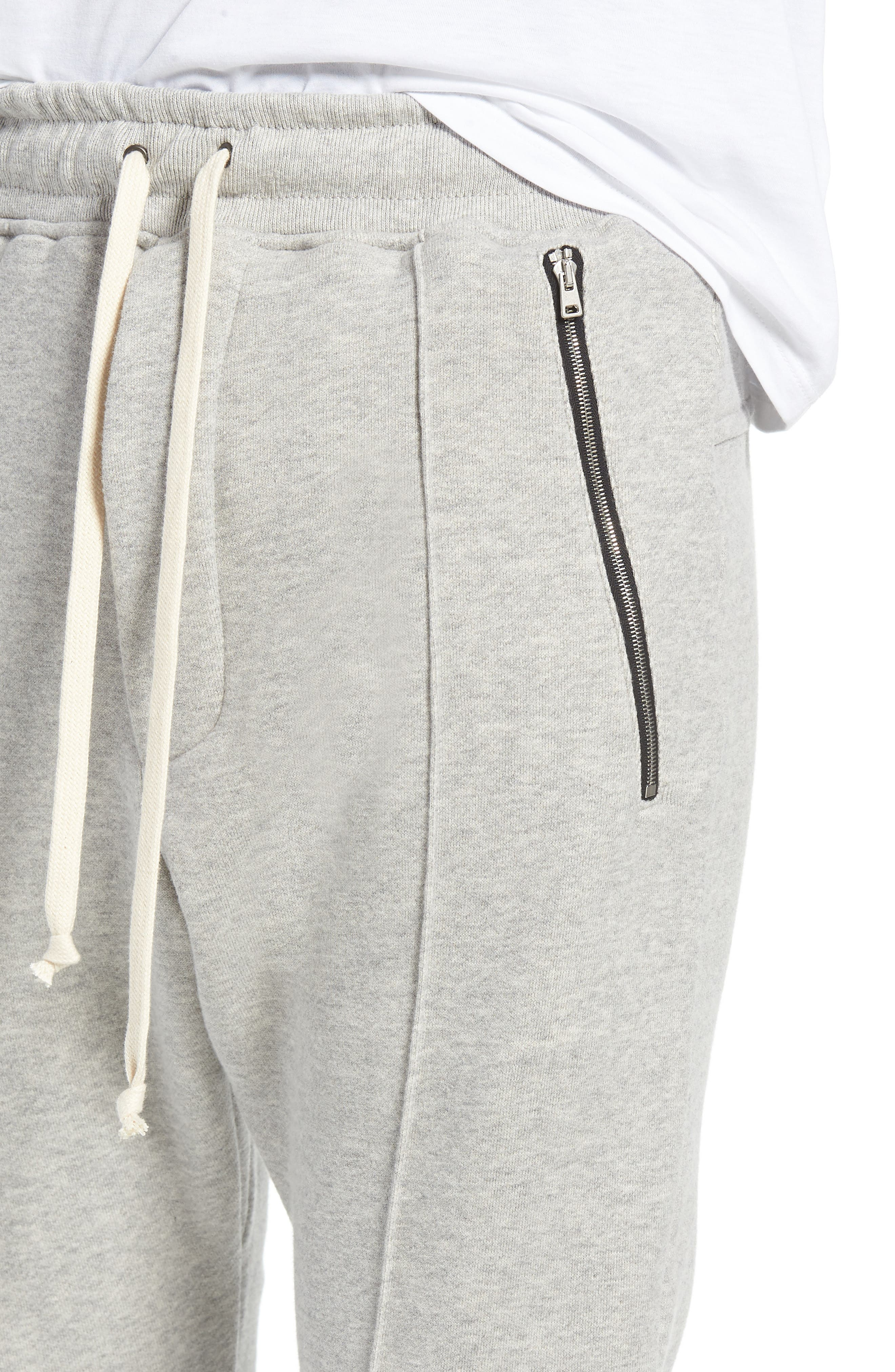 Plaid Jogger Pants,                             Alternate thumbnail 4, color,                             Grey