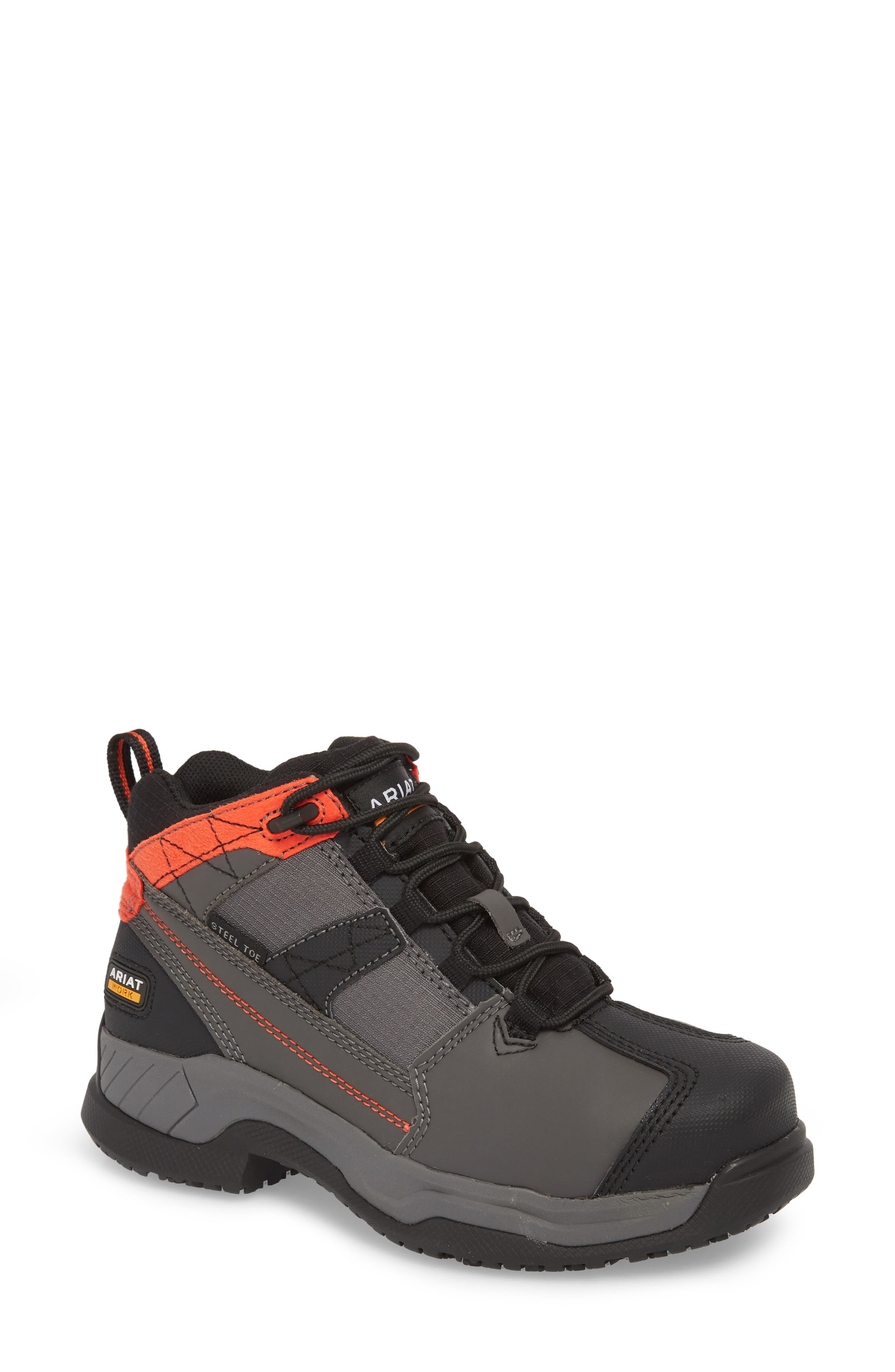 Contender Steel-Toe Work Boot,                         Main,                         color, Graphite