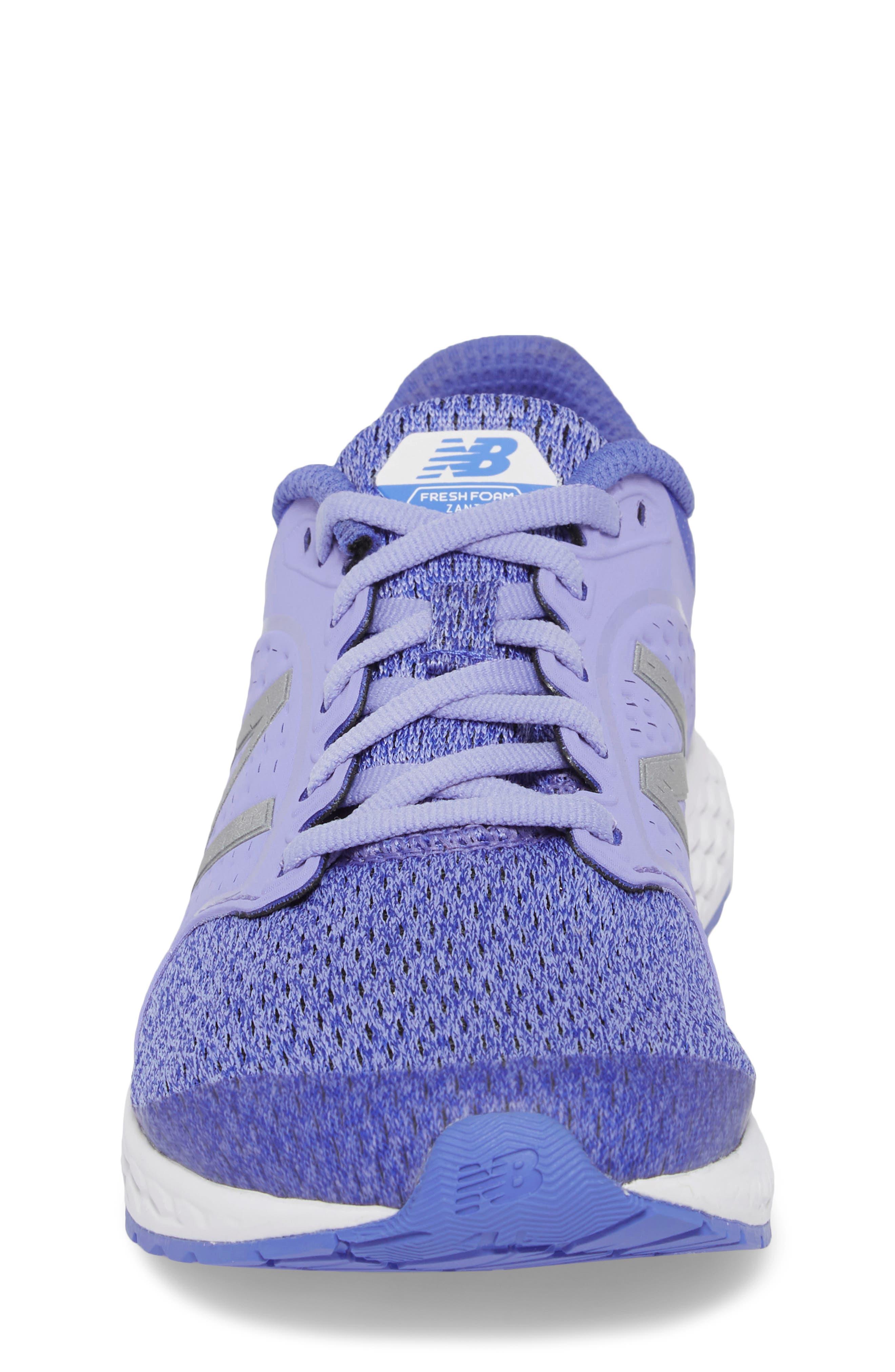 Fresh Foam Zante v4 Running Shoe,                             Alternate thumbnail 4, color,                             Ice Violet