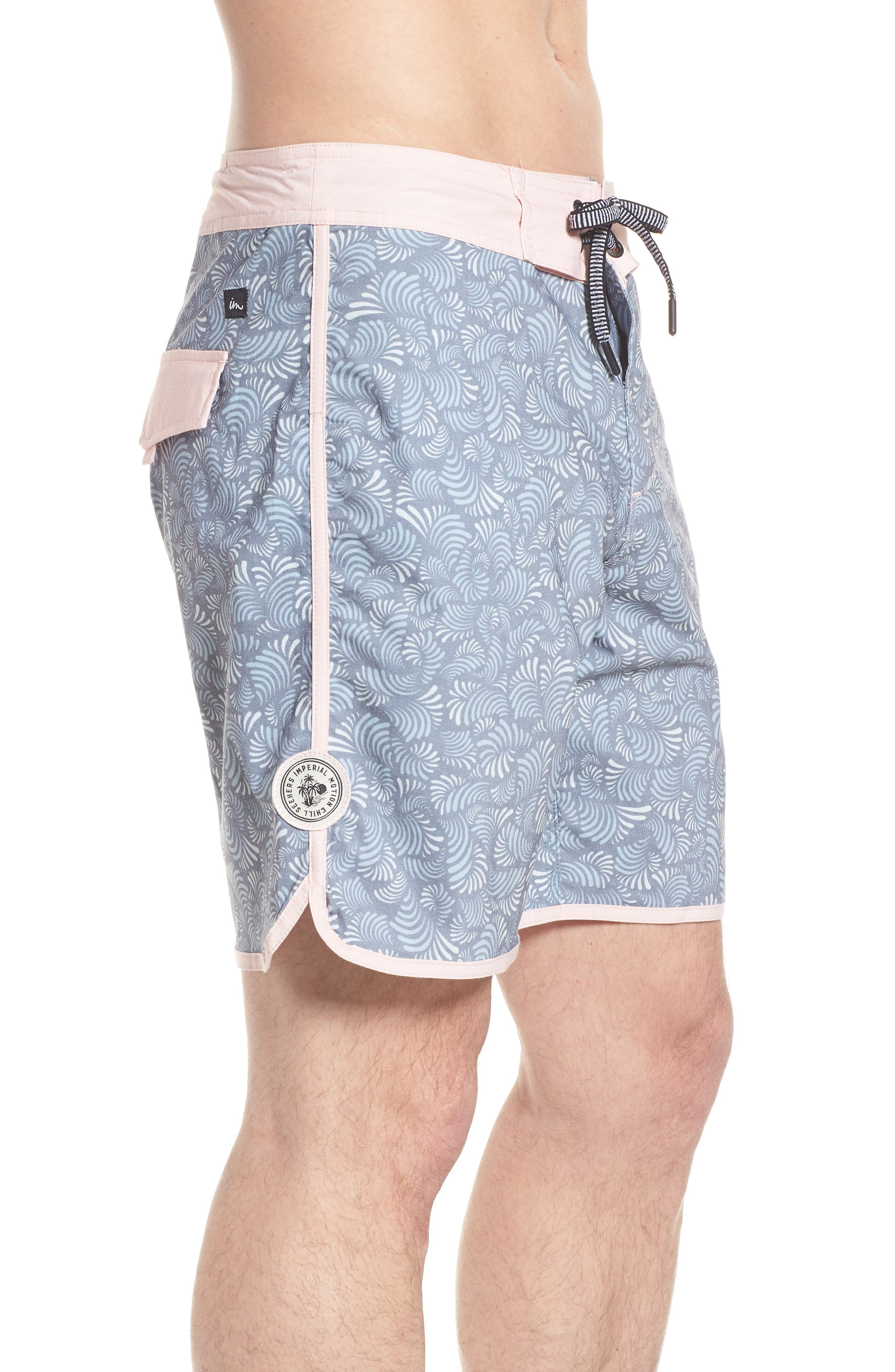 Seeker Board Shorts,                             Alternate thumbnail 3, color,                             Light Pink/ Blue