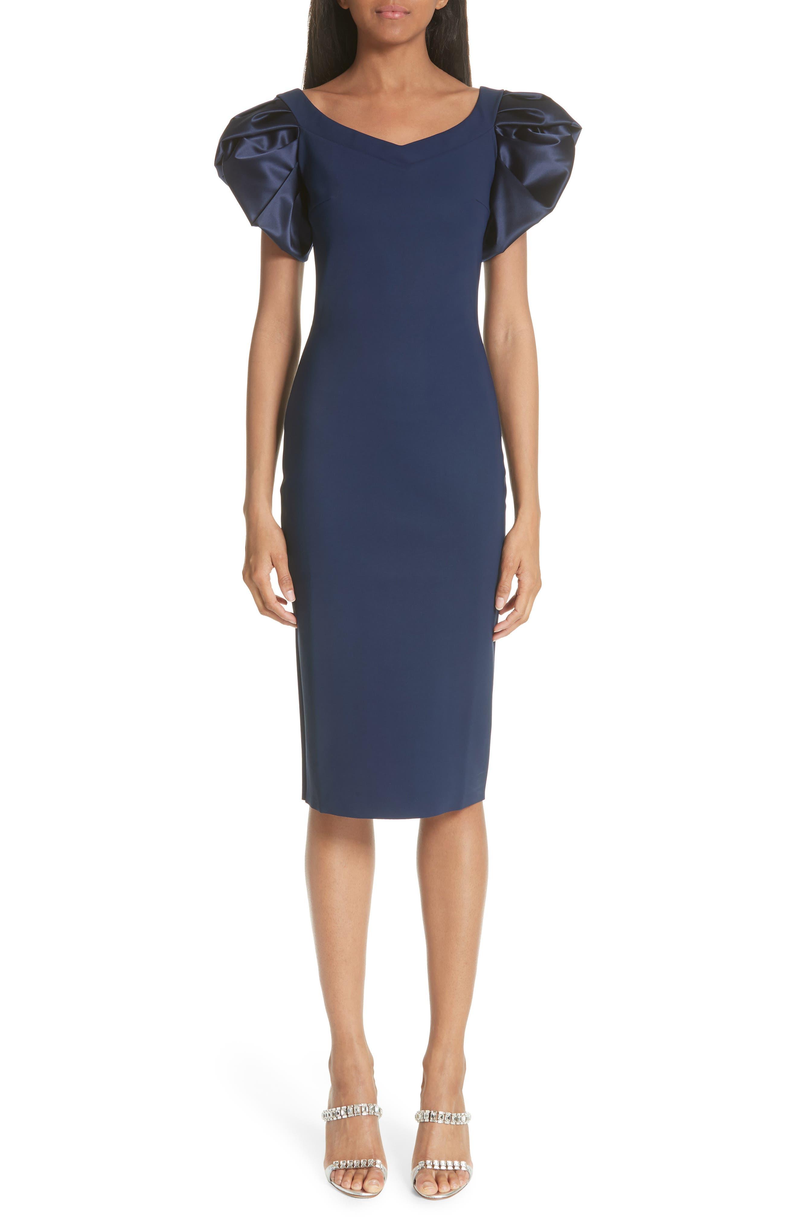 Eunice Jersey Sheath Dress,                         Main,                         color, Blue Notte