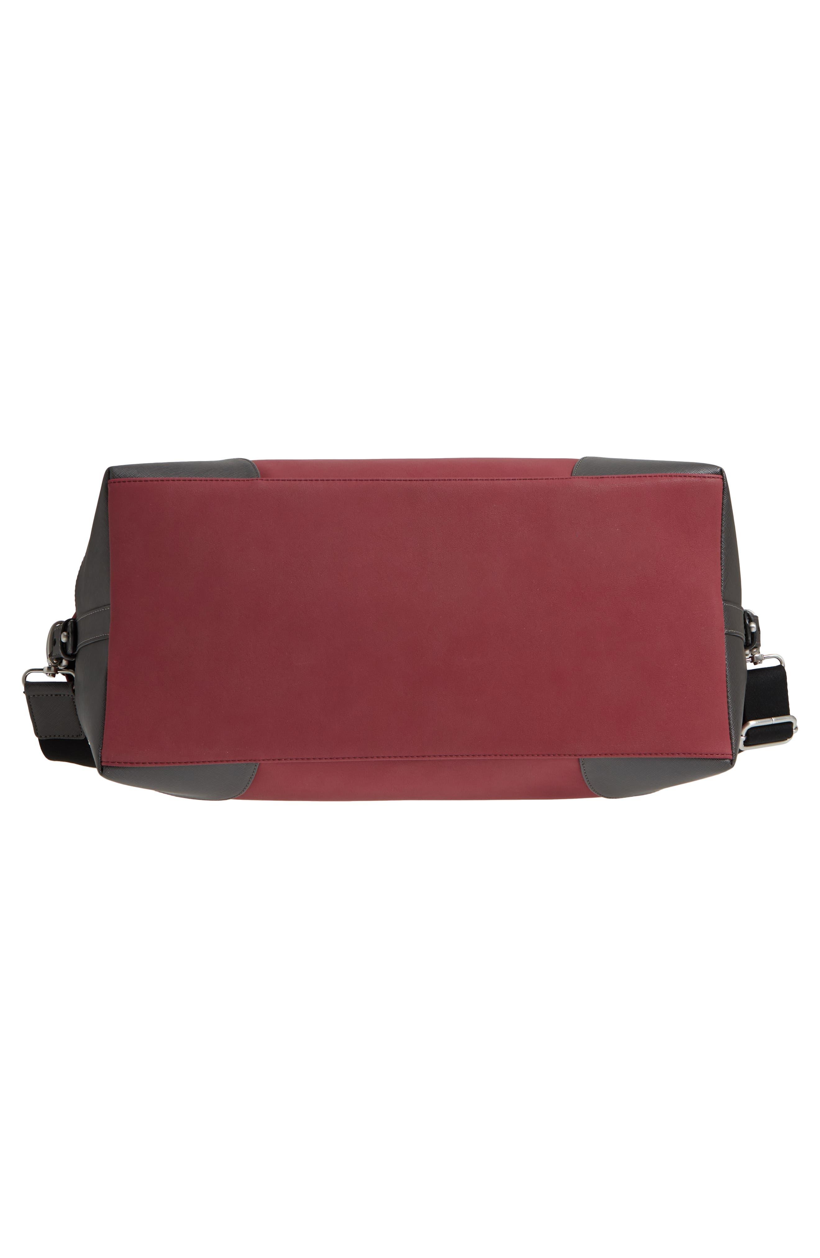 Swipes Duffel Bag,                             Alternate thumbnail 6, color,                             Red