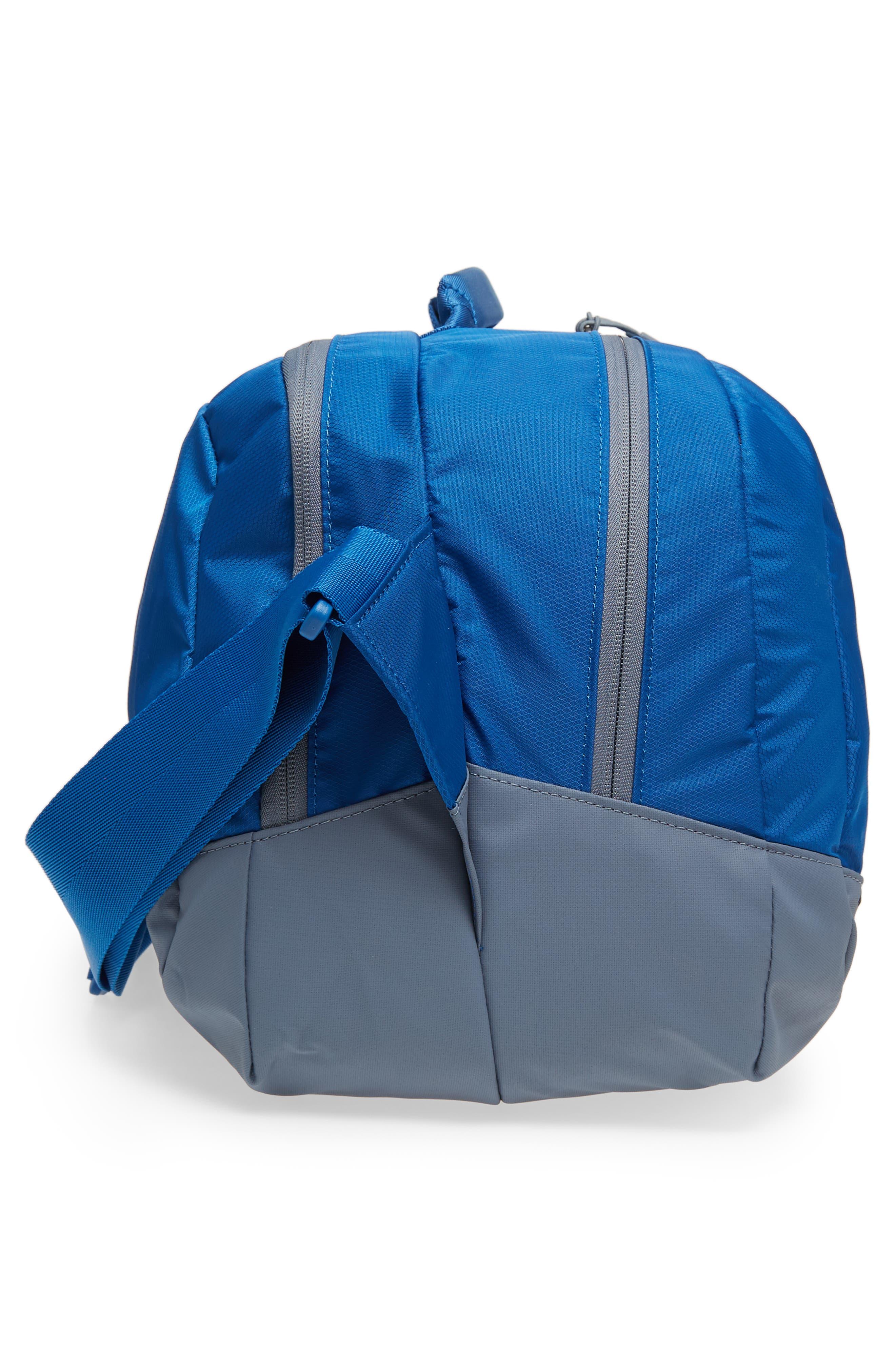 Run Duffel Bag,                             Alternate thumbnail 5, color,                             Blue Jay/ Armory Blue/ Silver