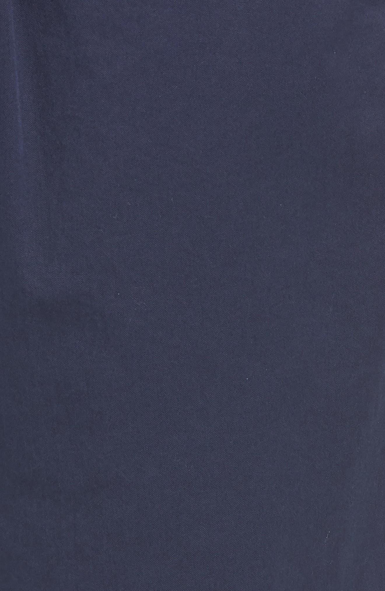 Pleated Chino Shorts,                             Alternate thumbnail 3, color,                             Navy Peacoat