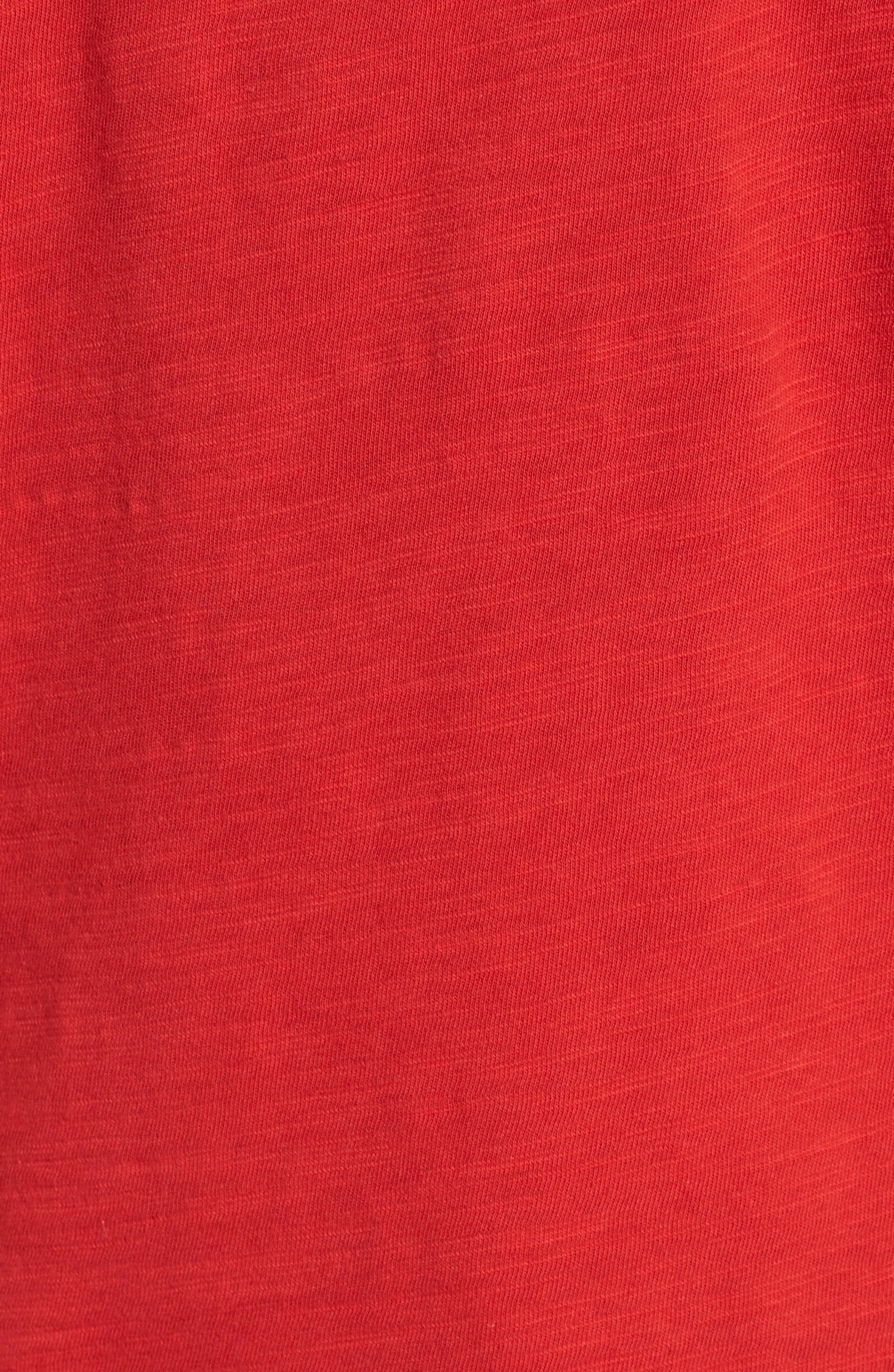 Contrast Pocket Tank,                             Alternate thumbnail 5, color,                             Red Pompeii