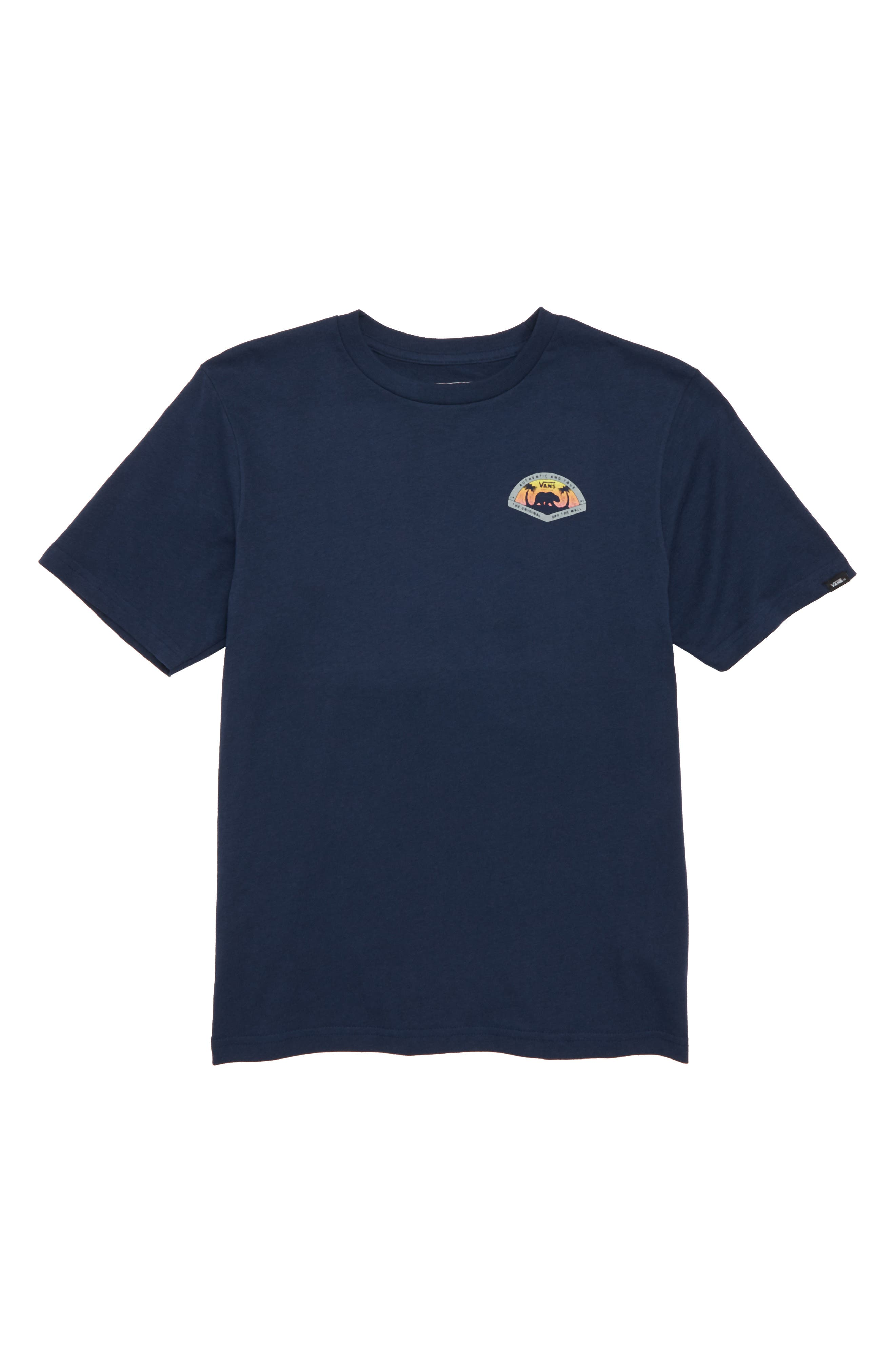 Grizzly Beach Graphic T-Shirt,                             Main thumbnail 1, color,                             Dress Blues
