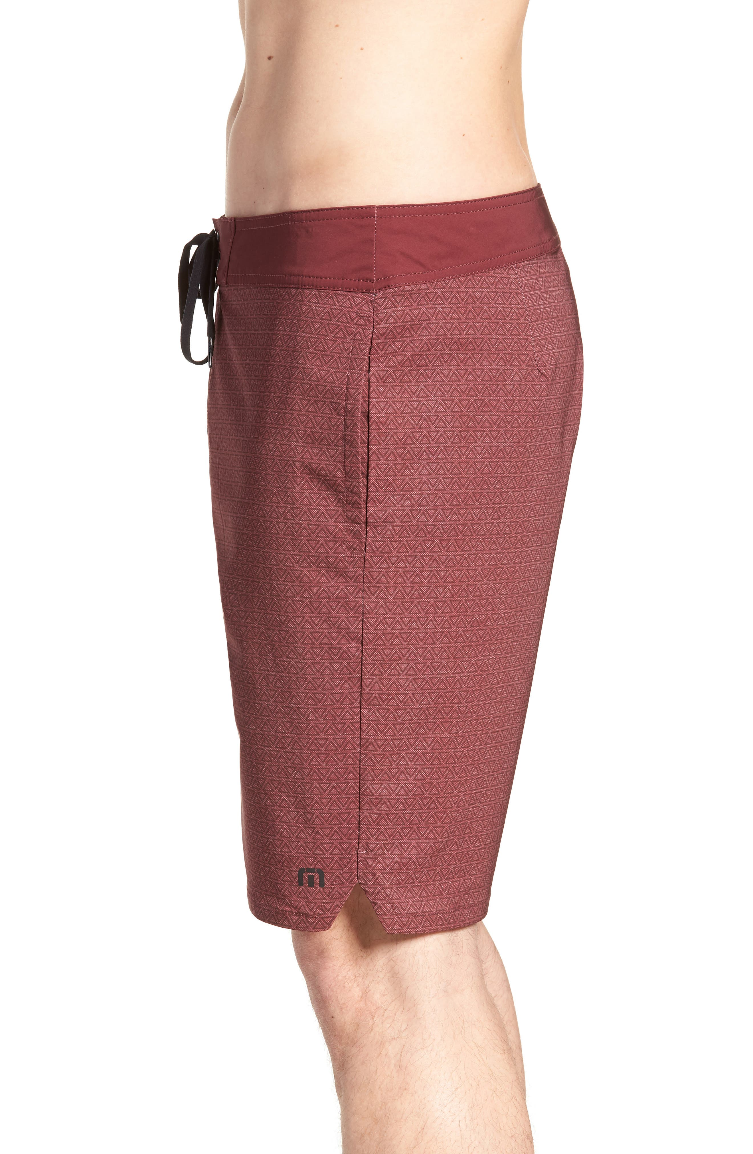 Blanders Regular Fit Board Shorts,                             Alternate thumbnail 3, color,                             Oxblood