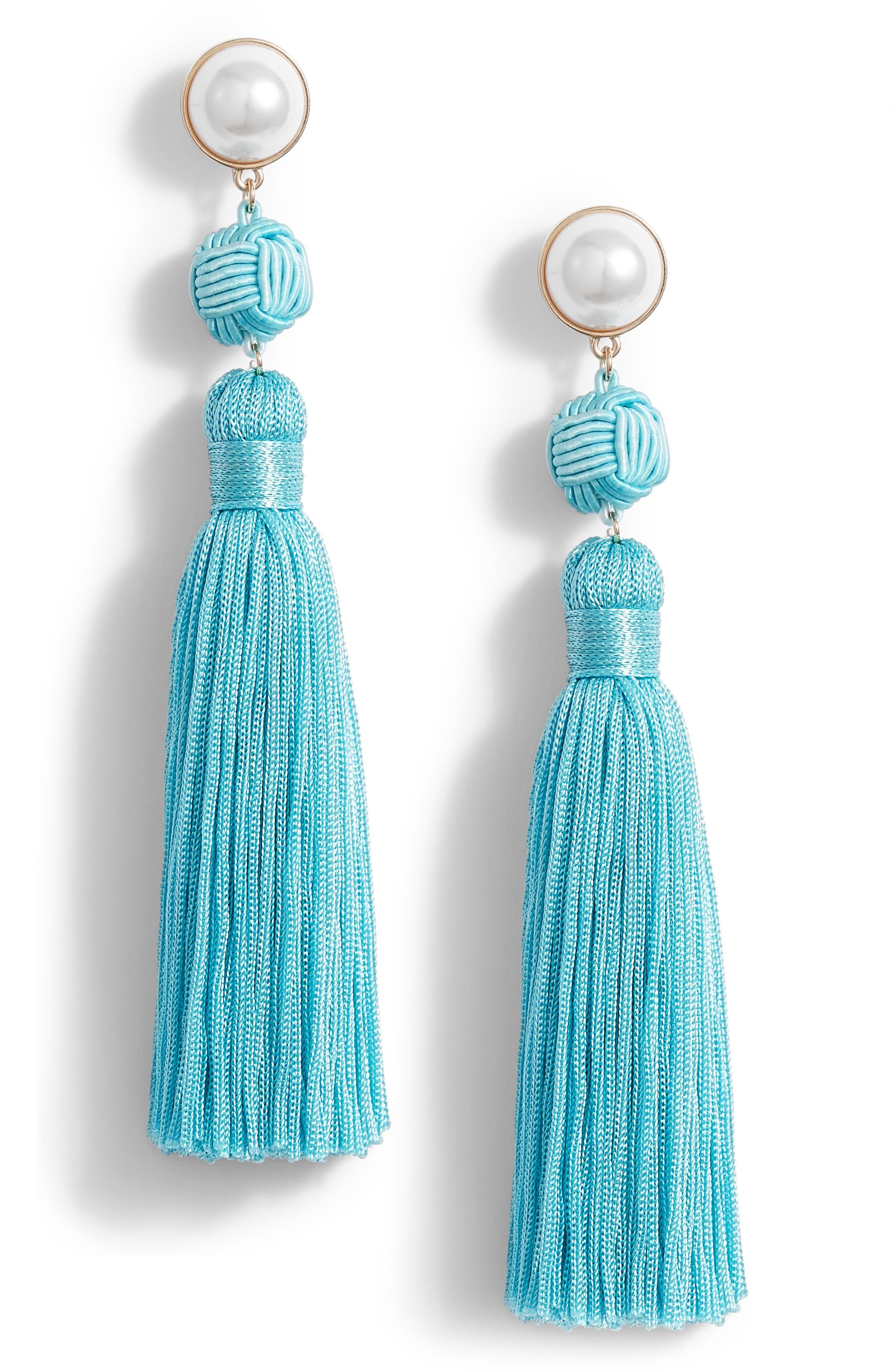 Tasha Imitation Pearl Fringe Earring