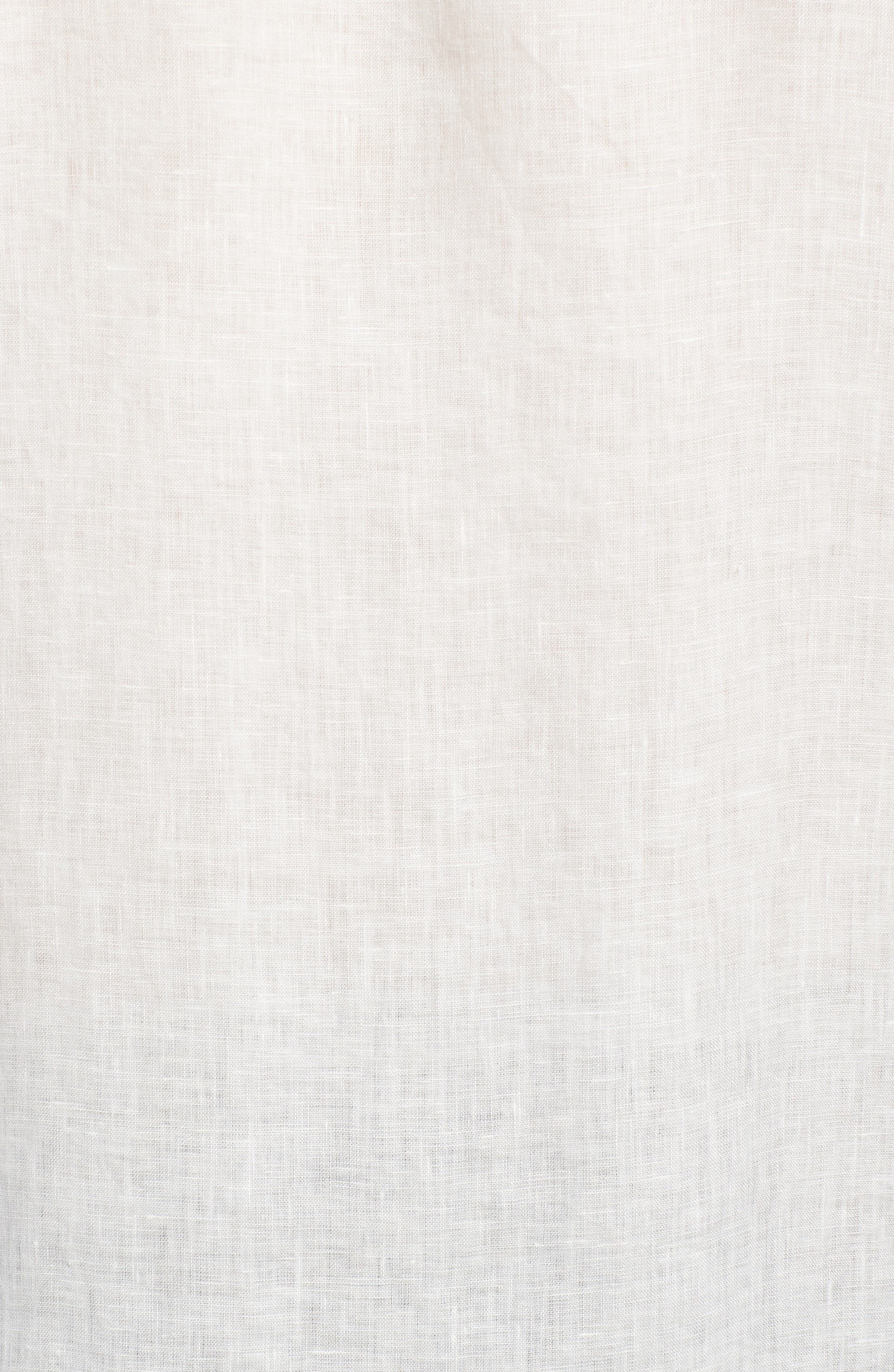 Shaped Fit Linen Sport Shirt,                             Alternate thumbnail 5, color,                             White