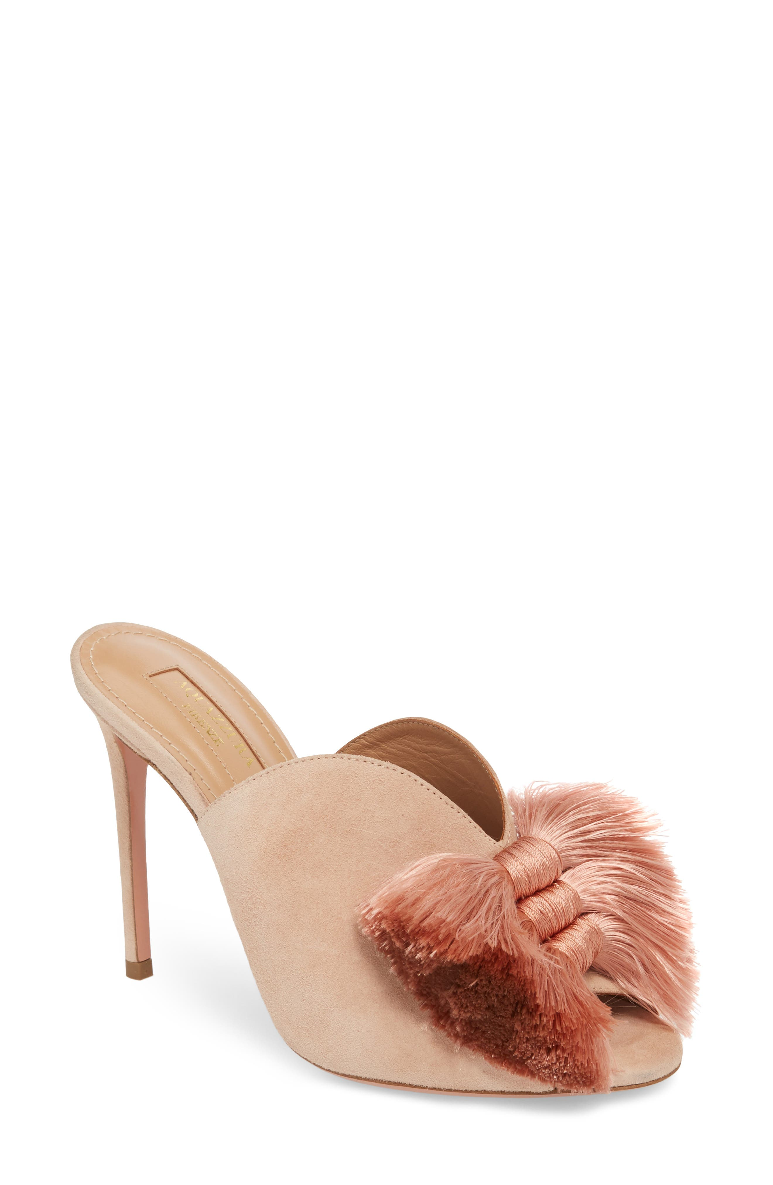Aquazzura Lotus Blossom Mule Sandal (Women)