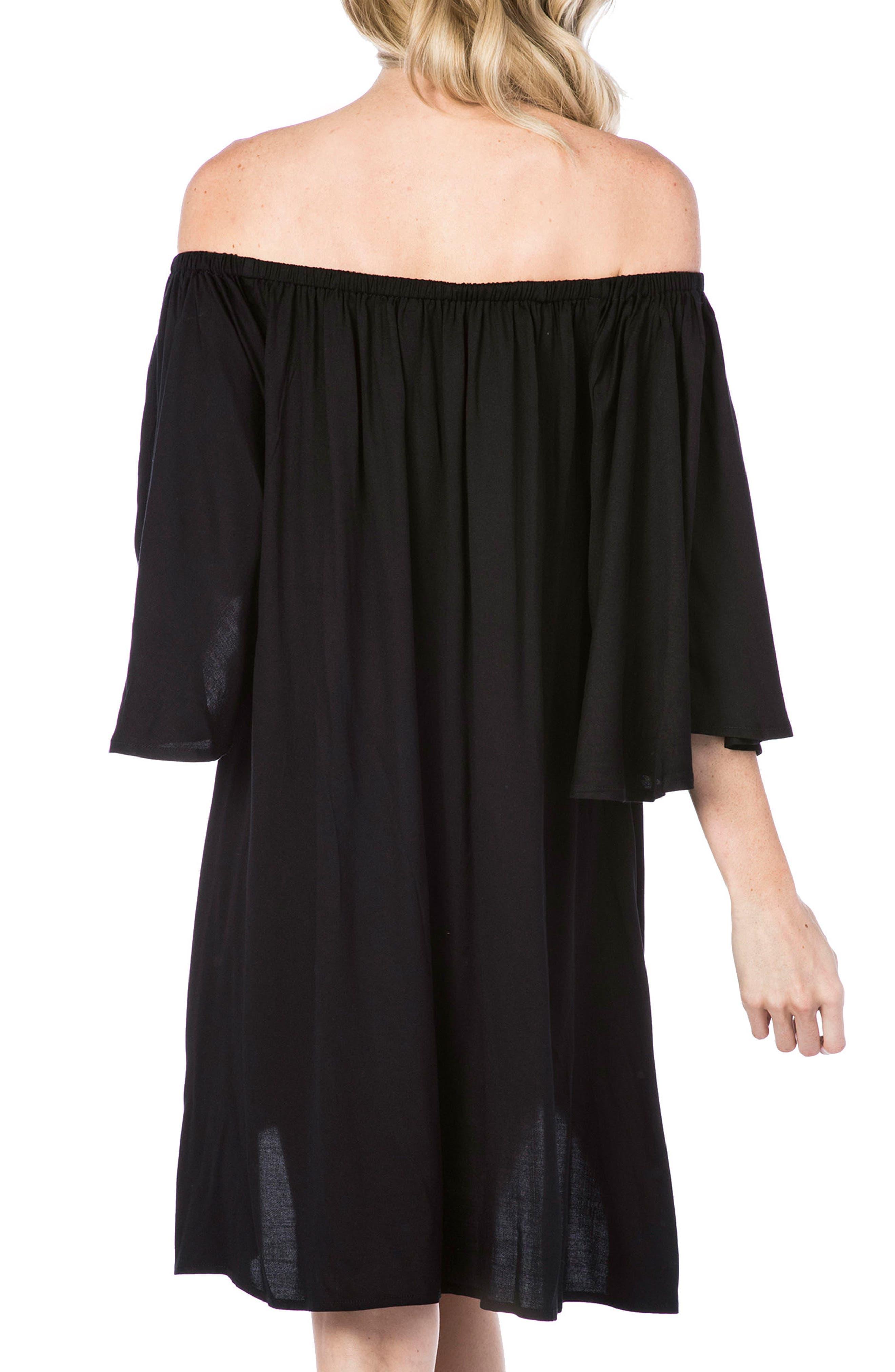 Cover-Up Dress,                             Alternate thumbnail 2, color,                             Black