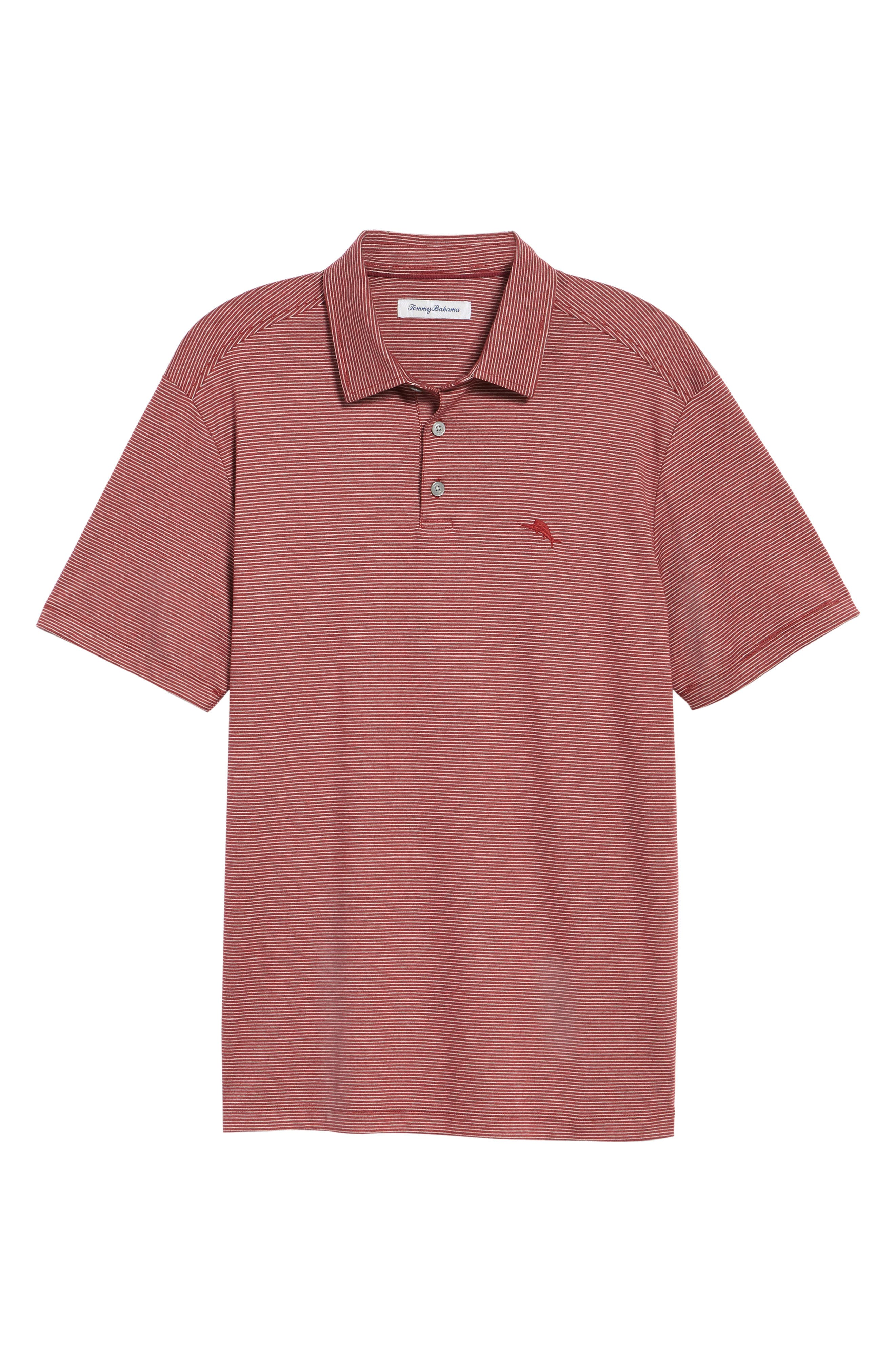 Pacific Shore Polo,                             Alternate thumbnail 6, color,                             Beet Red Heather