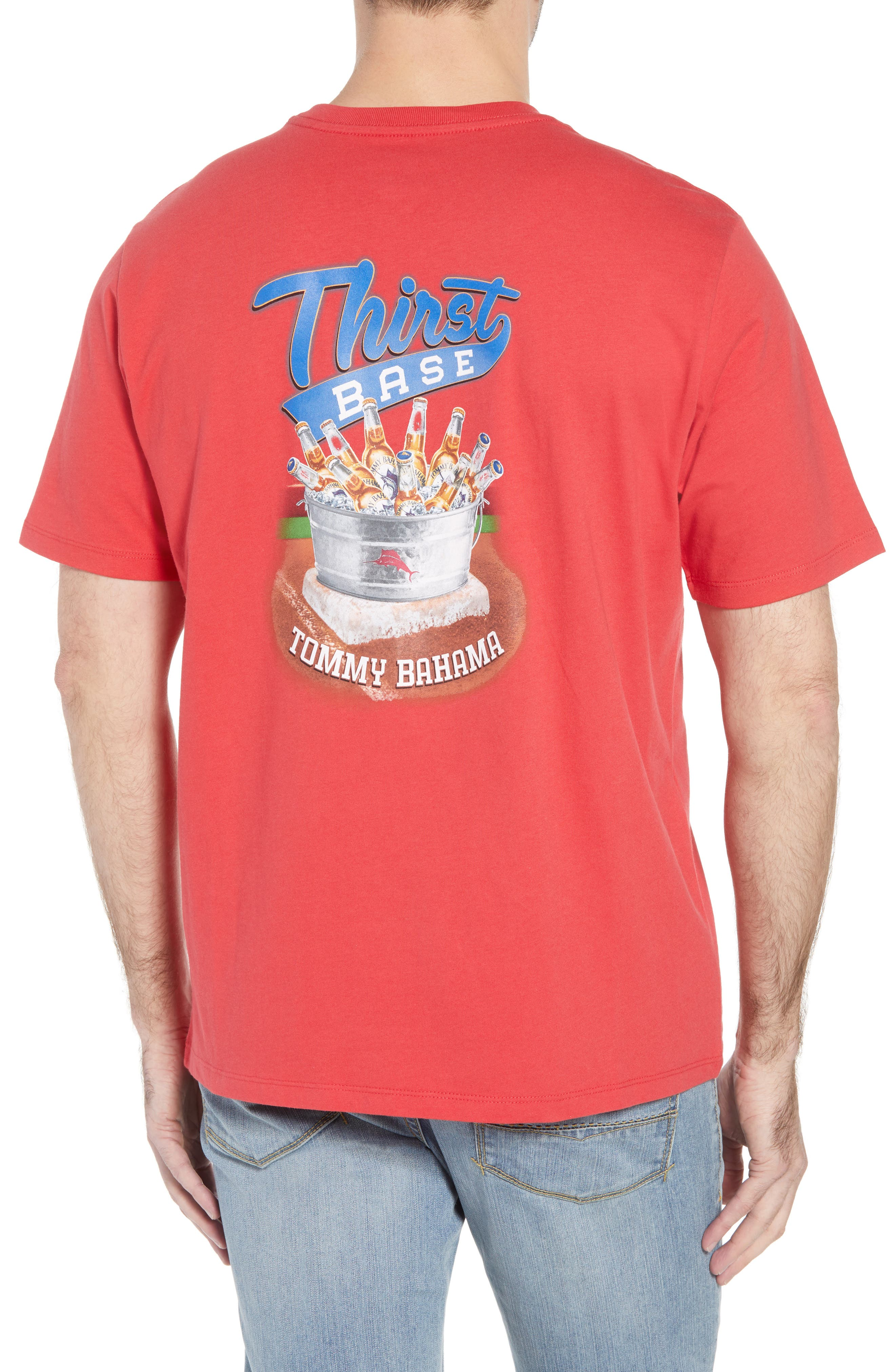 Thirst Base T-Shirt,                             Alternate thumbnail 2, color,                             Lucky Red