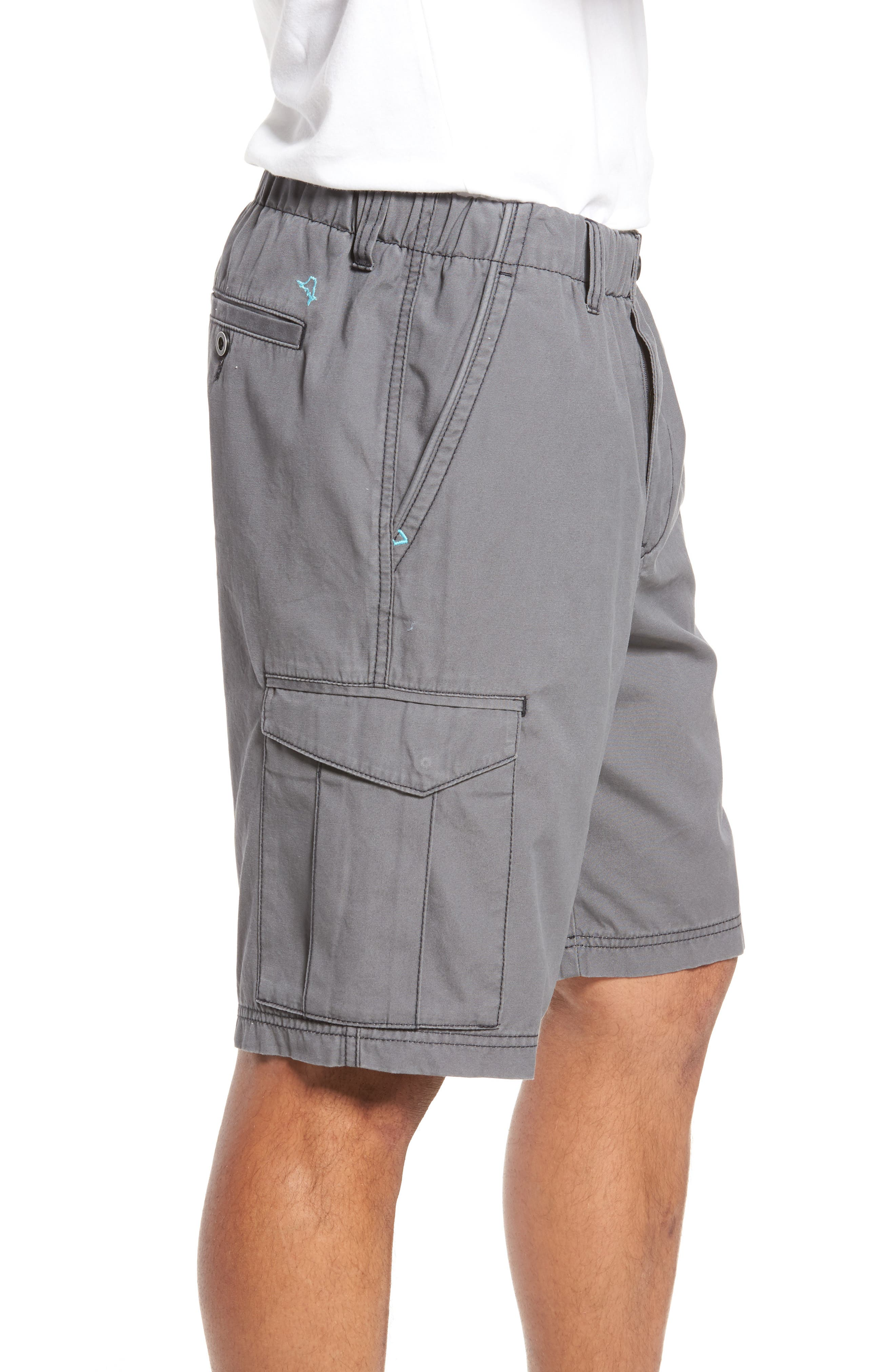 Island Survivalist Cargo Shorts,                             Alternate thumbnail 3, color,                             Fog Grey