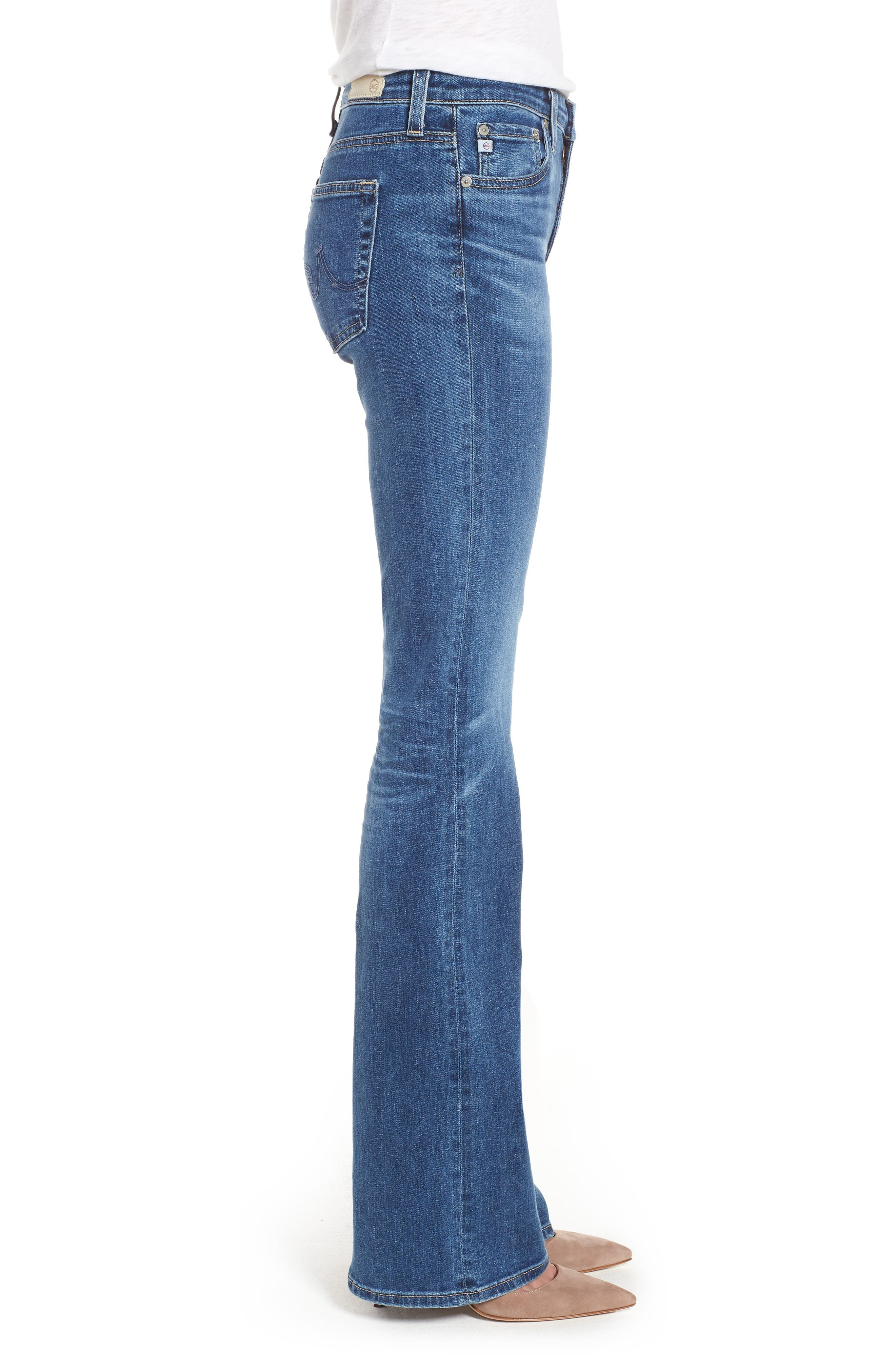 Angel Flare Jeans,                             Alternate thumbnail 3, color,                             10 Years Cambria
